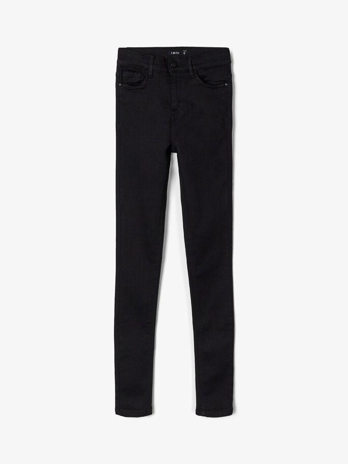LMTD Teens Pil Hw Skinny Jeans i Ekologisk Bomull Svart