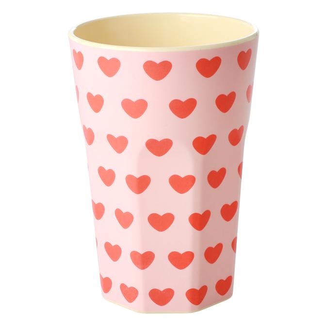 Rice Lattemugg i Melamin Sweet Hearts Print
