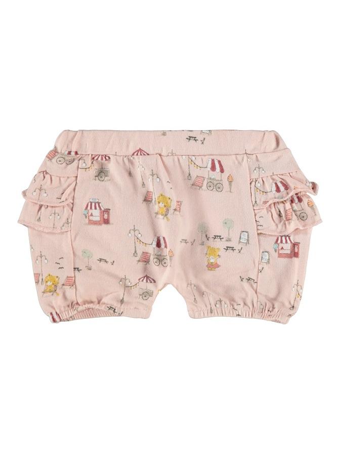 Name it Baby Mönstrade Shorts i Ekologisk Bomull Rosa