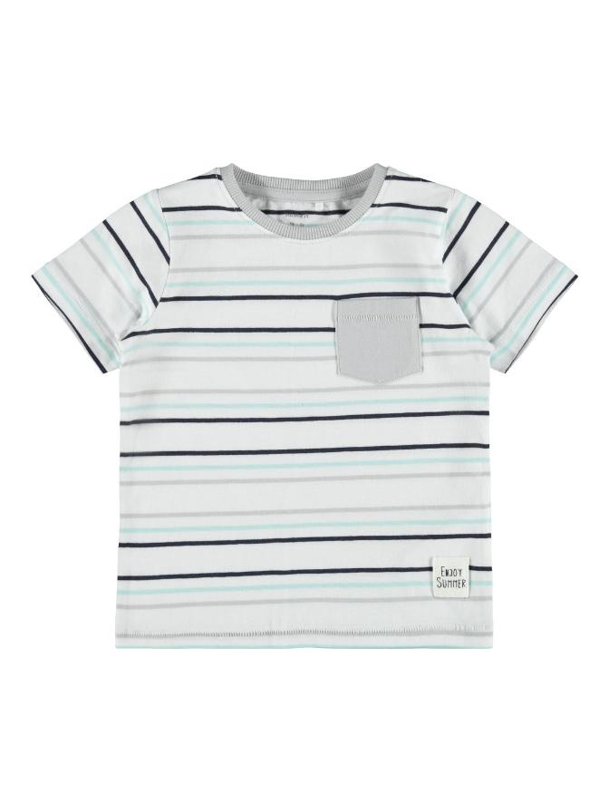Name it Mini Randig T-Shirt Vit