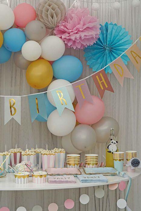 Jabadabado Vimpel Happy Birthday Guld