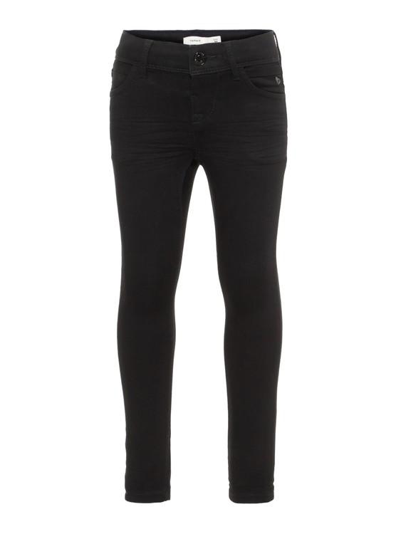 Name it Mini Polly Svarta Skinny Jeans i Ekologisk Bomull