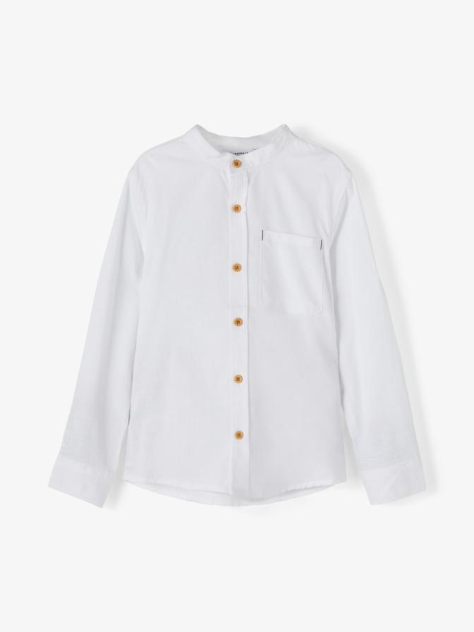 Name it Mini Långärmad Skjorta med Kinakrage