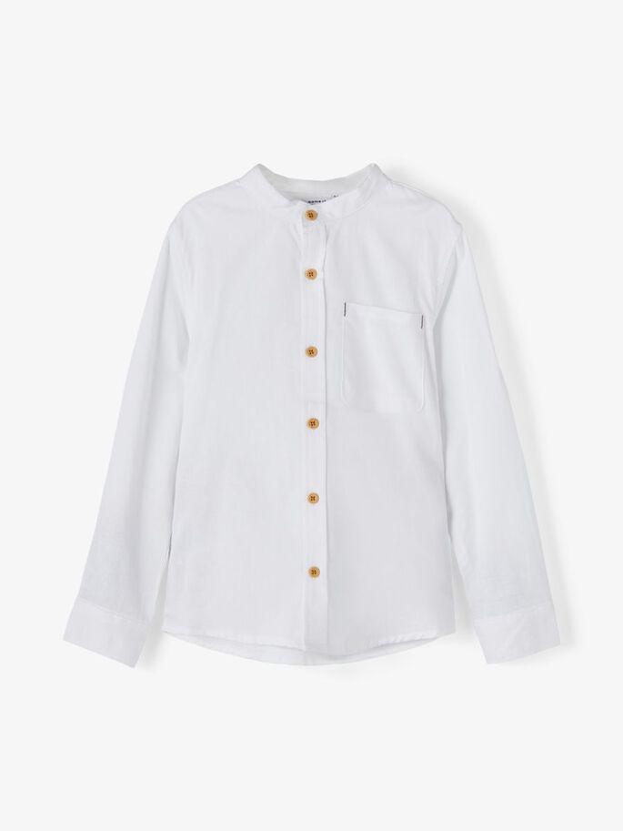 Name it Kids Långärmad Skjorta med Kinakrage