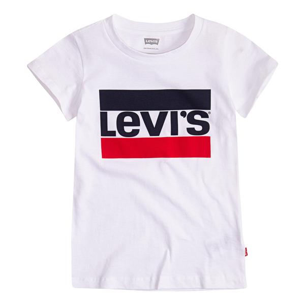 Levis Kids Girls Sportswear logo T-Shirt Vit