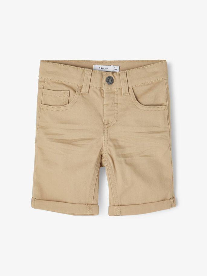 Name it Mini Slim Fit Bomullstwill Shorts Beige