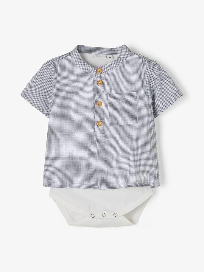 Name it Baby Rutig Skjortbody i Ekologisk Bomull