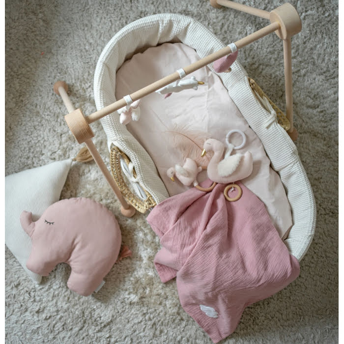 Jabadabado Babyfilt Rosa