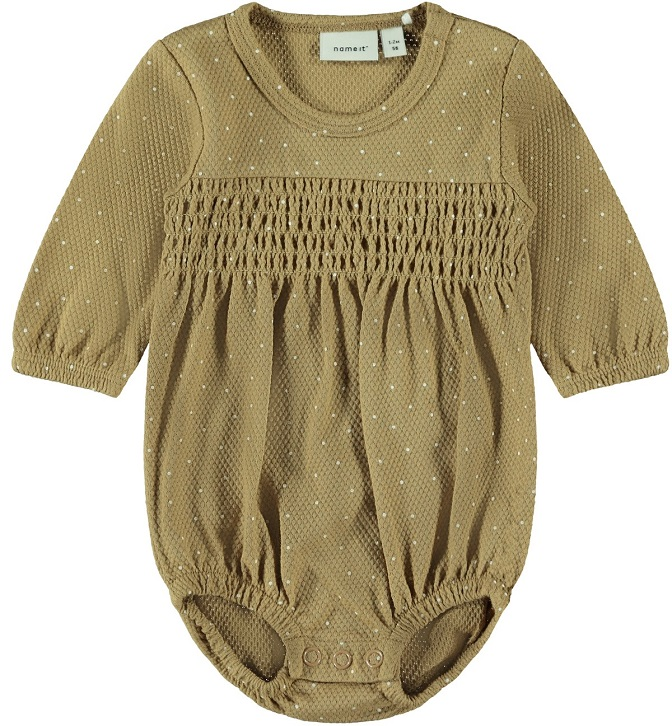 Name it Baby Prickig Body i Ekologisk Bomull