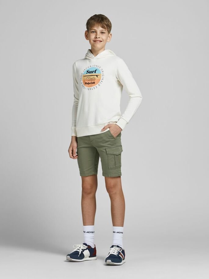 Jack & Jones Junior Cargoshorts Grön