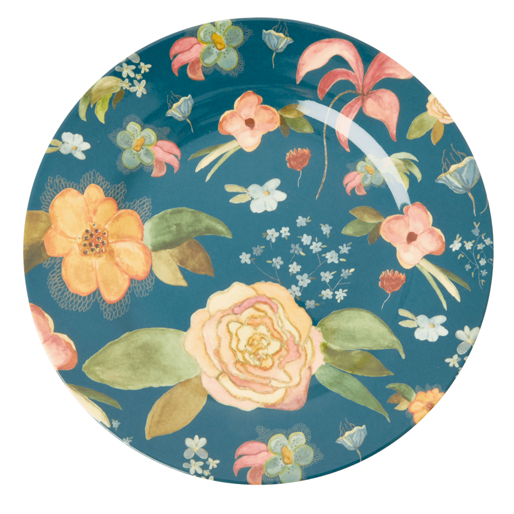 Rice Mattallrik i Melamin Selmas Fall Flower Print