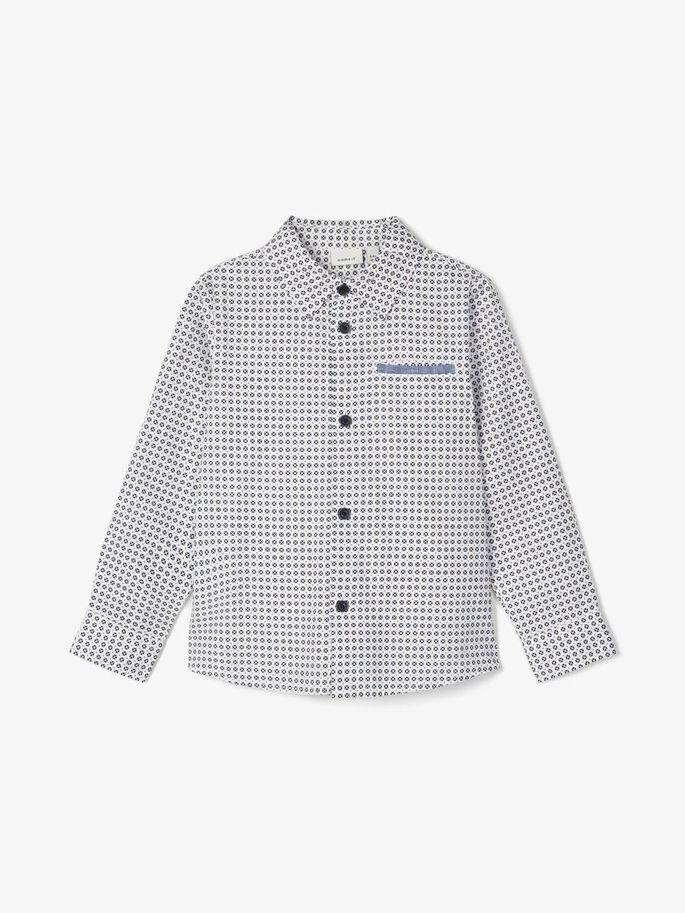 Name it Mini Mönstrad Skjorta i Ekologisk Bomull