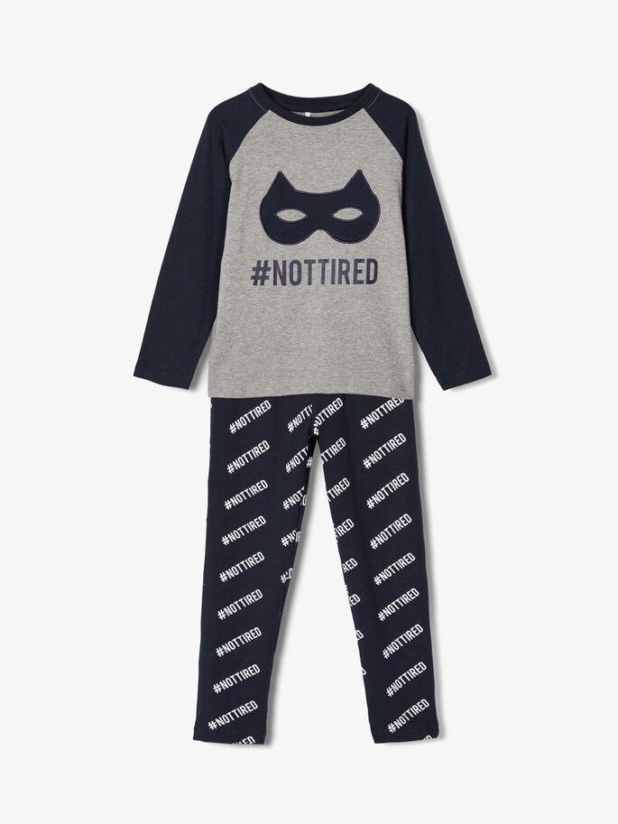 Name it Mini Batman Pyjamas i Ekologisk Bomull Marinblå