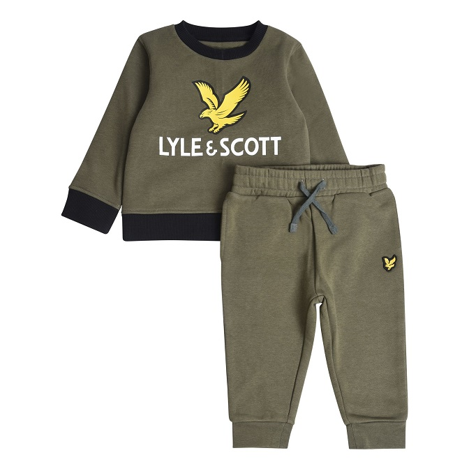 Lyle & Scott Toddler Jogger Set Grön