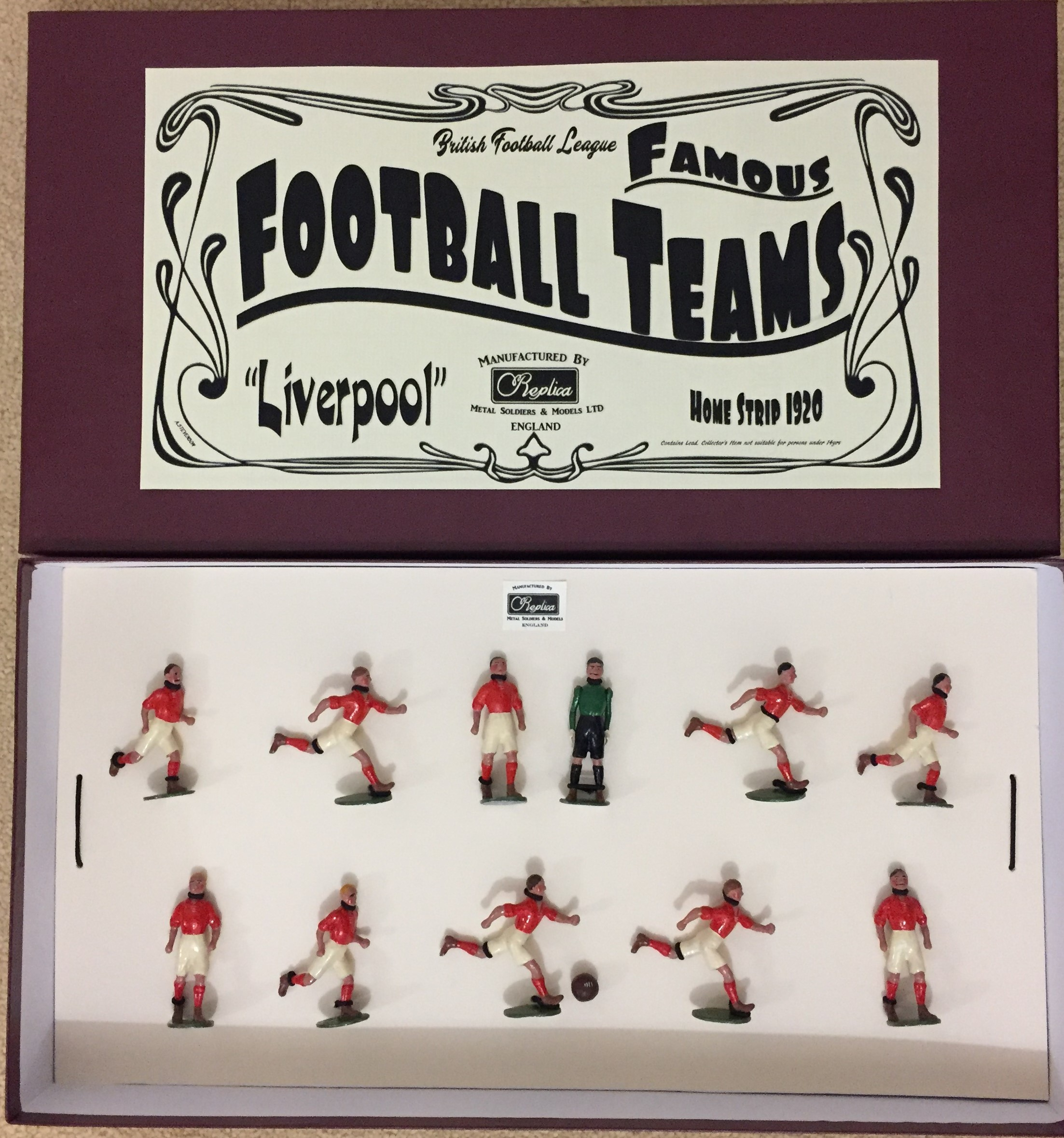11 Player football team , Painted Boxed - Any Team