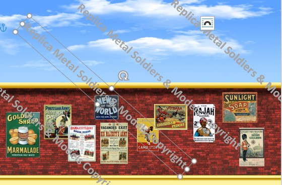 BD4. Poster Wall with Adverts
