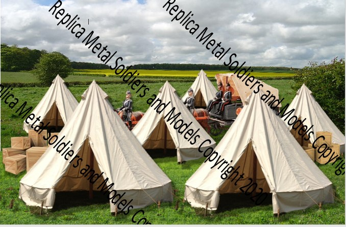 Bell Tent with Wagon Backdrop