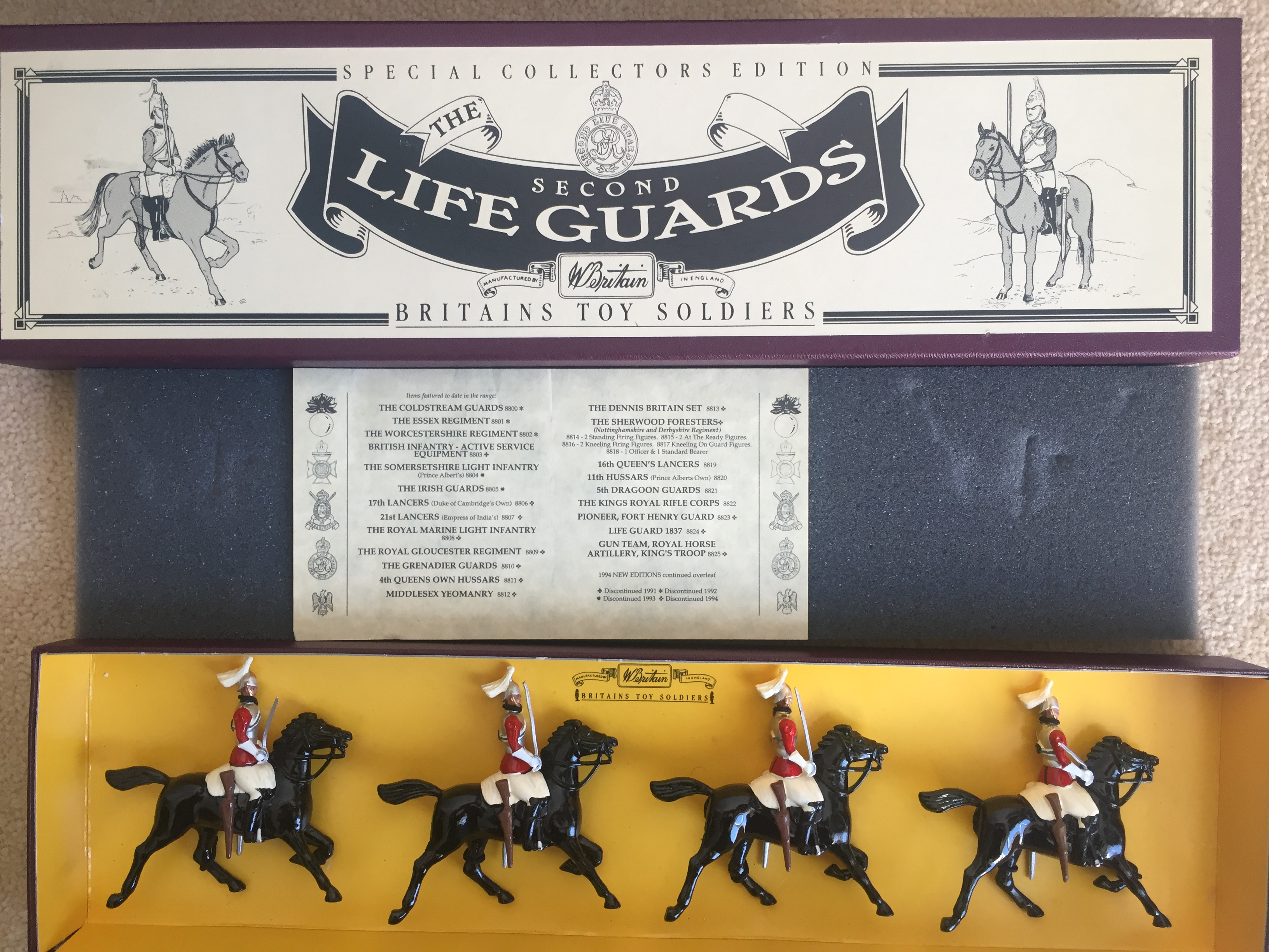 Britains Set  8829 2nd Life Guards
