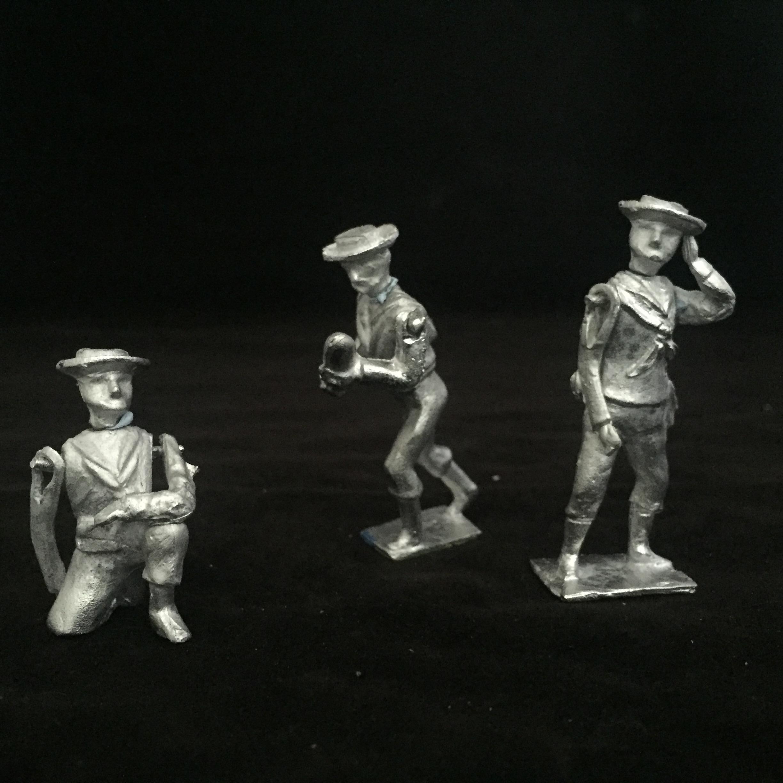 Royal Navy 4.7 inch Gun crew