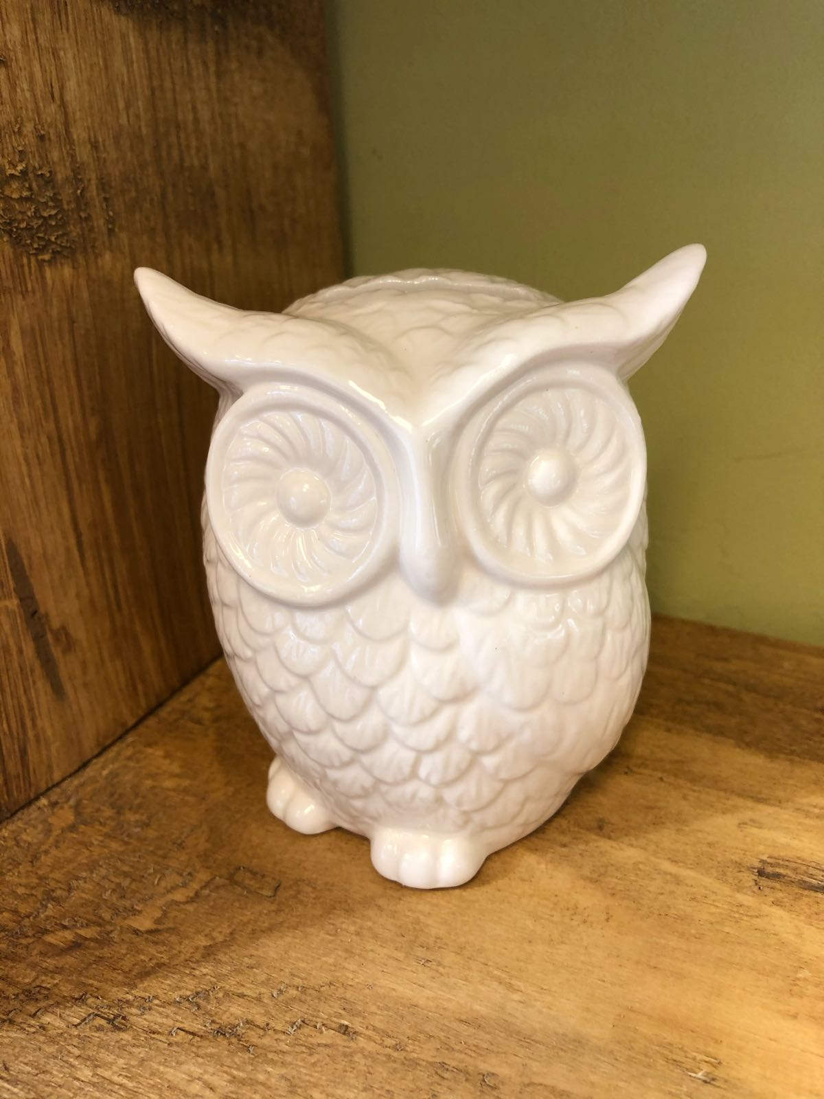 Ceramic owl money box