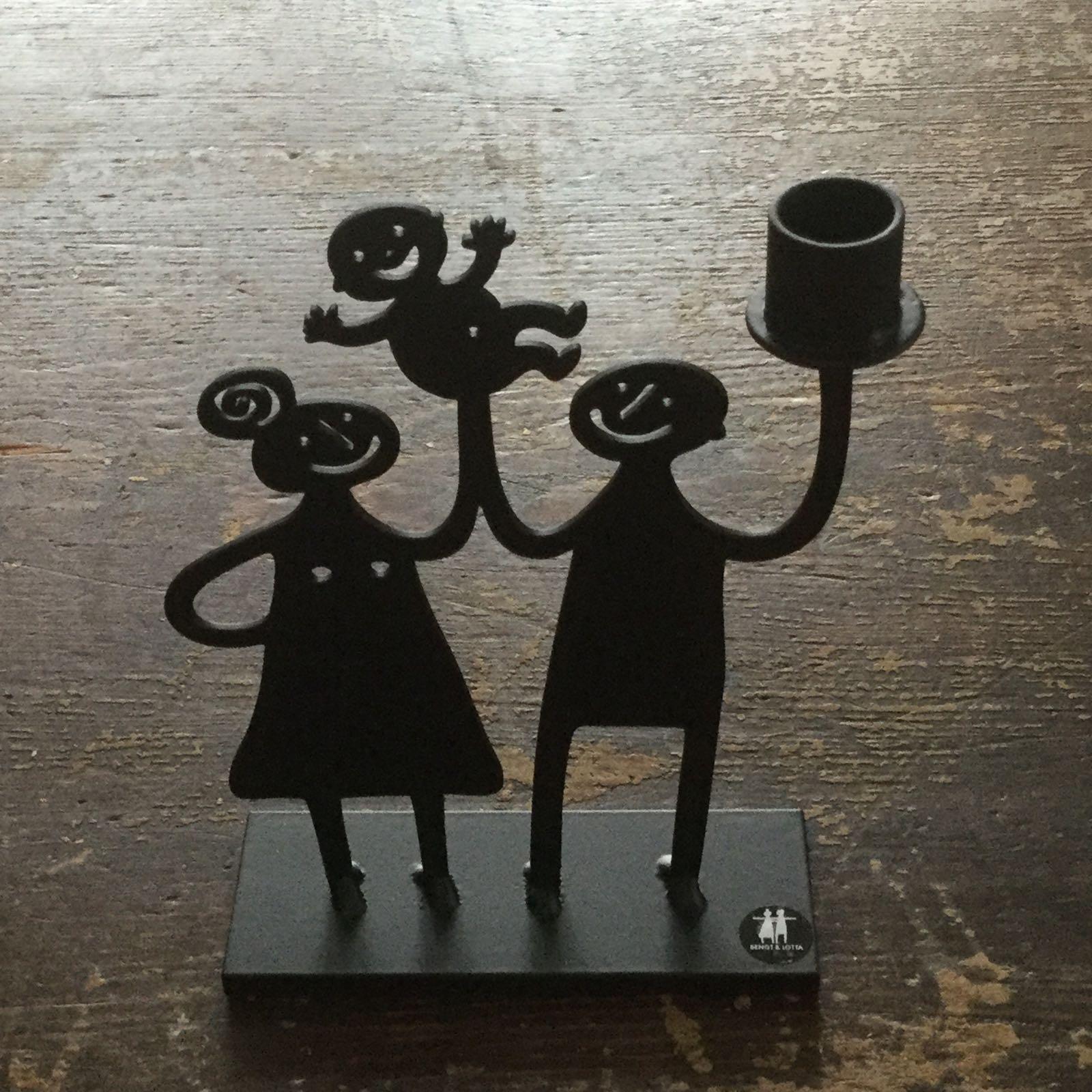 """kerzenhalter/leuchter """"familie"""", ca. 9 x 11,5 cm, lackierter stahl, bengt & lotta"""