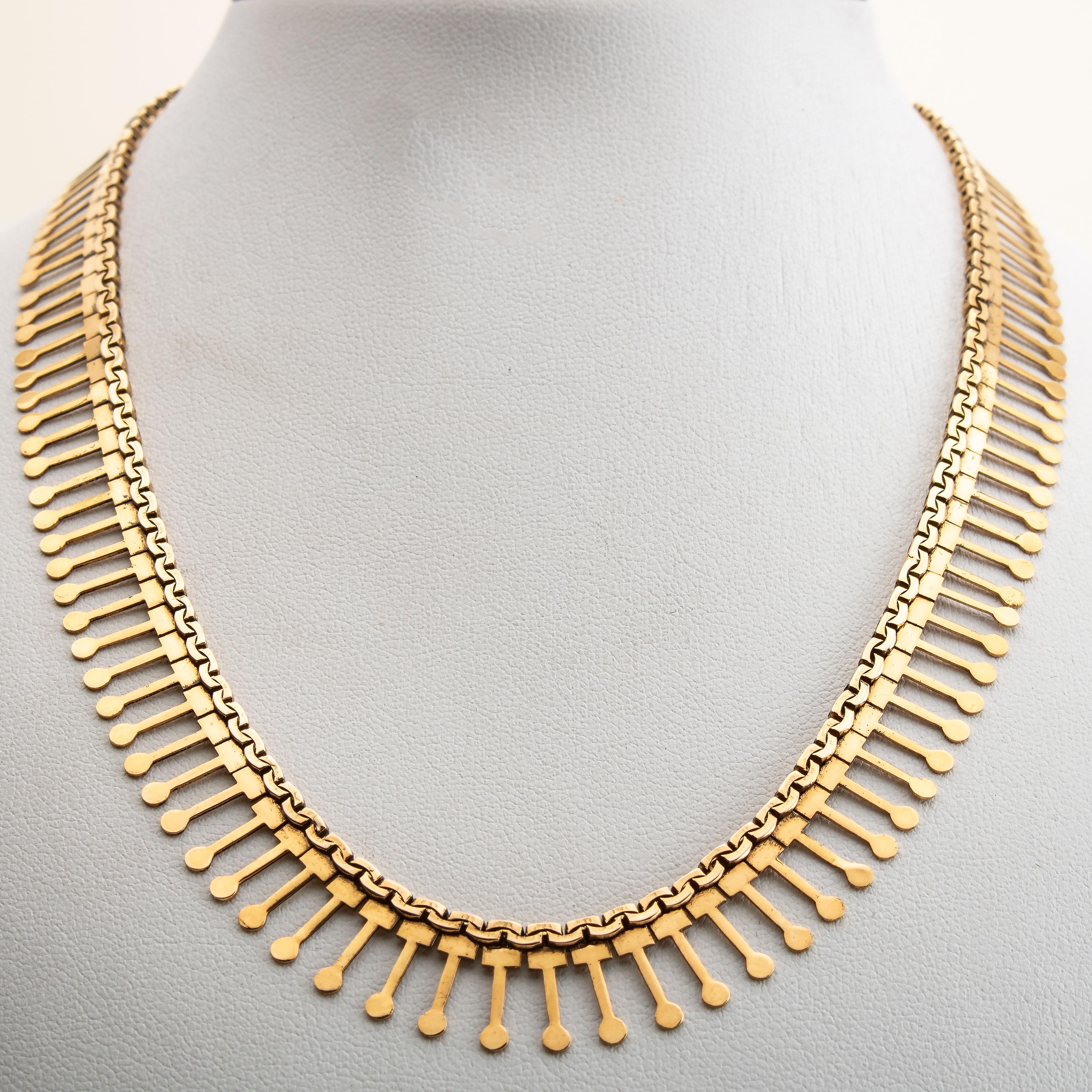 Halssmykke, gult gull