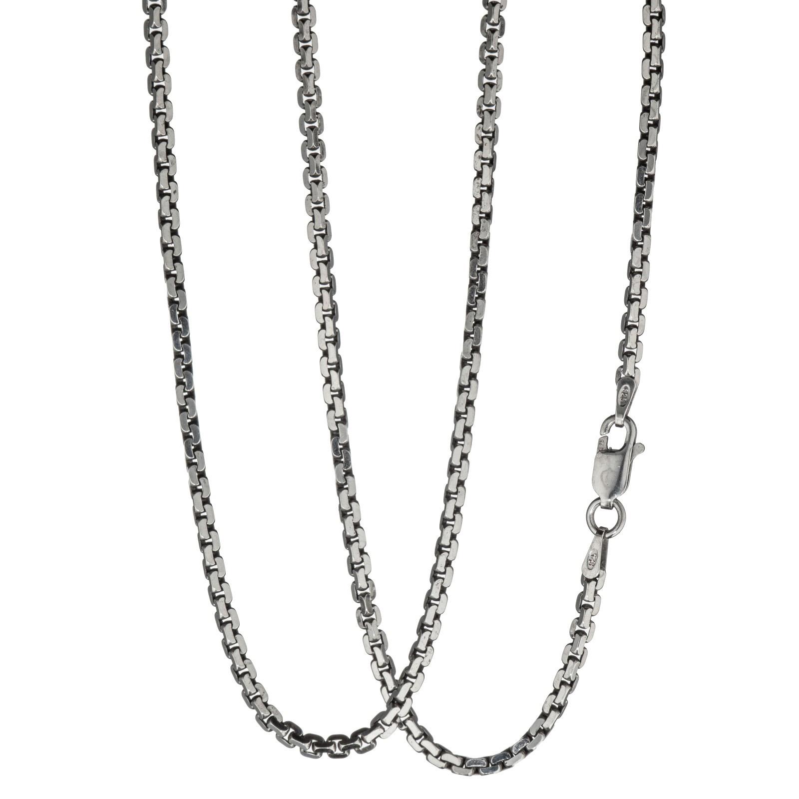 Tett anker halskjede 42 cm, sterling sølv