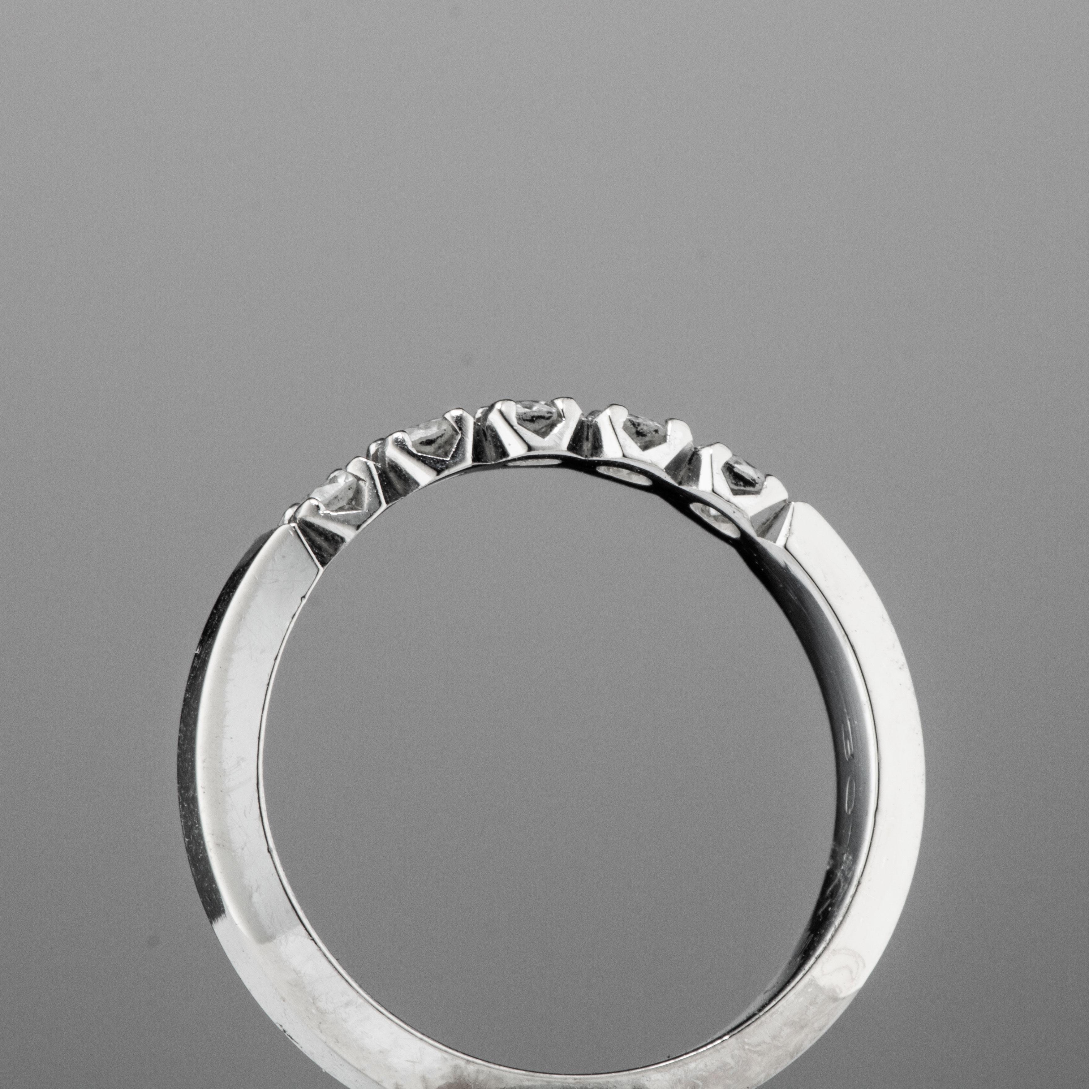 Sigurd Homstvedt ring, hvitt gull, diamanter (0,30 ct.)