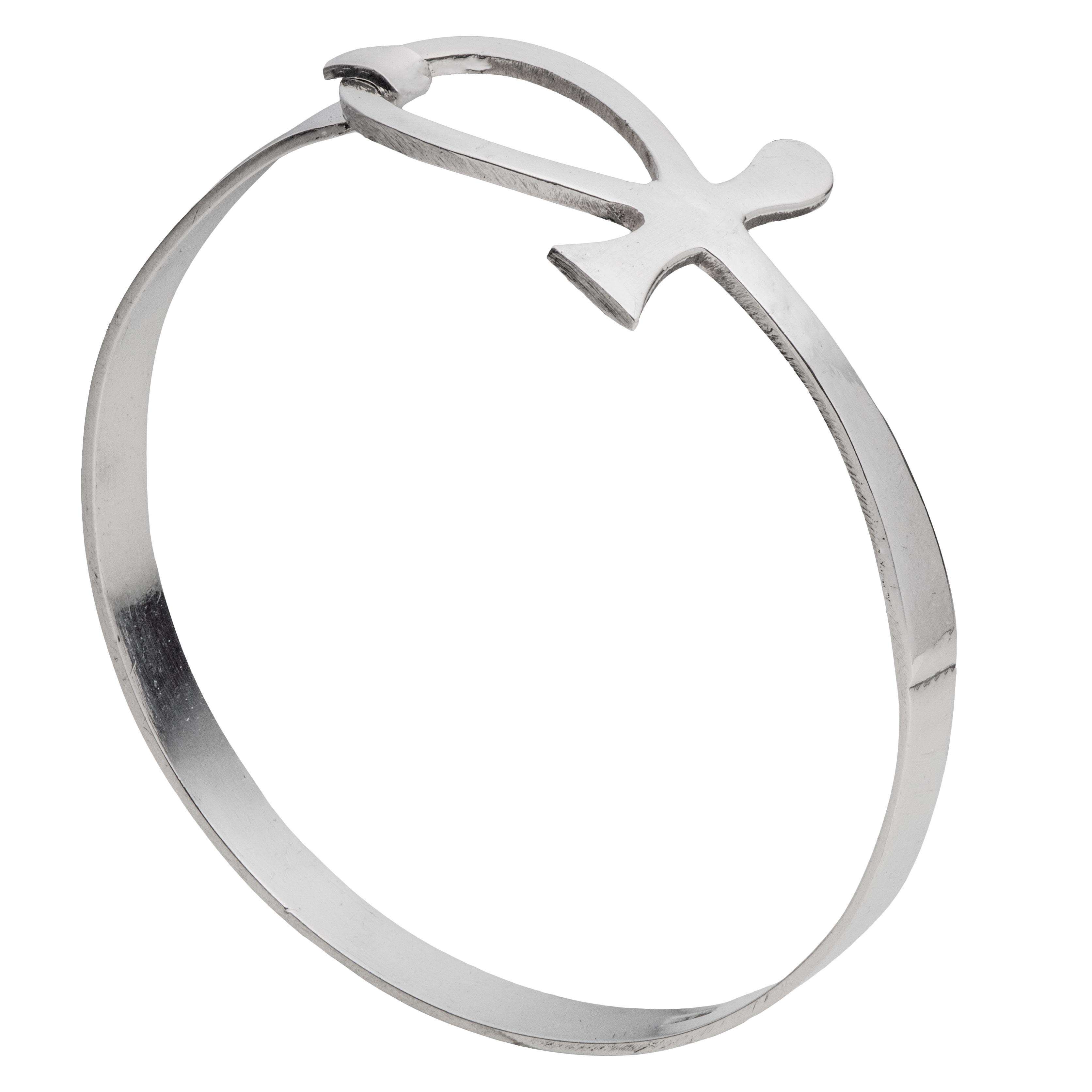 Hankekors armring, sølv