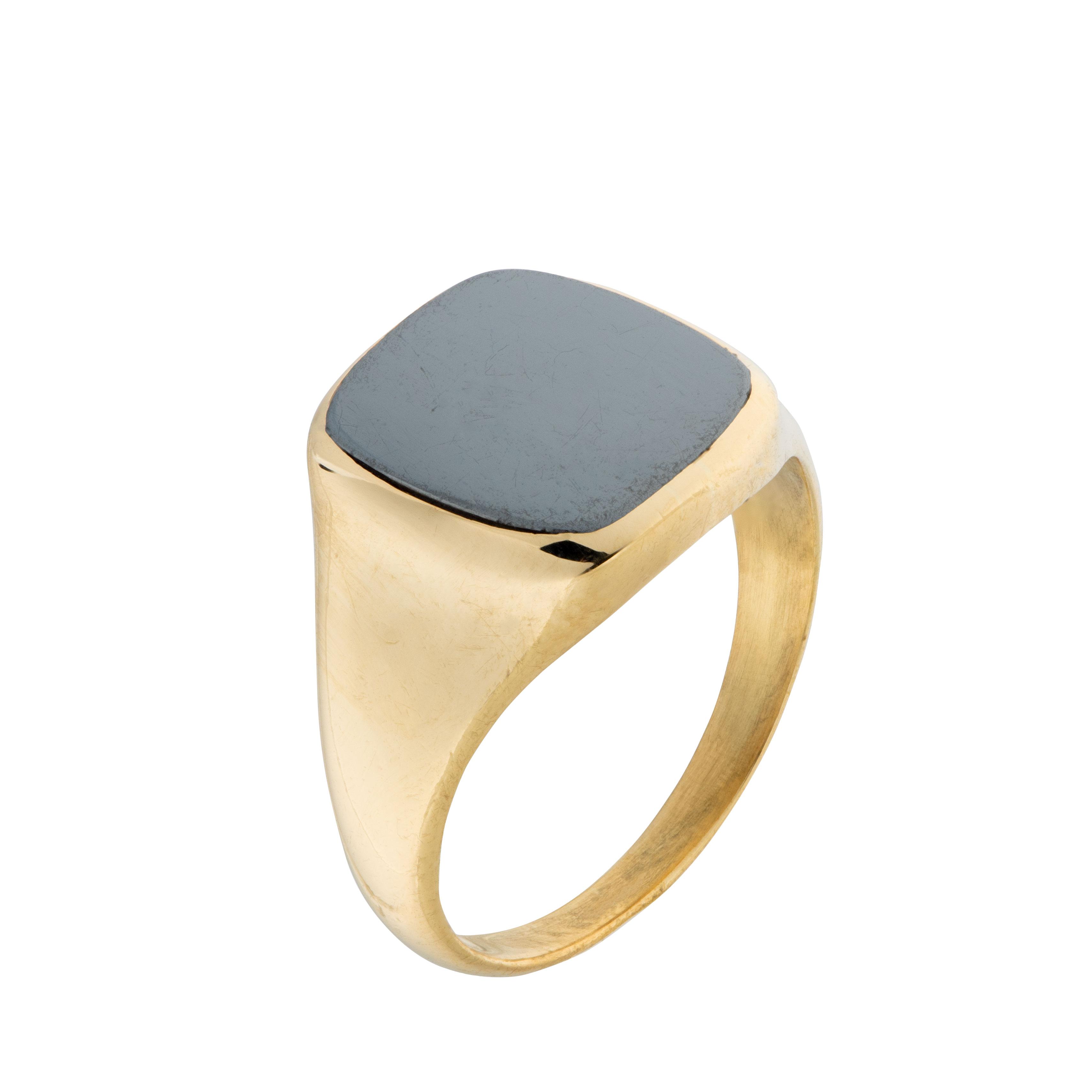 Sigurd Homstvedt ring, gult gull, onyx