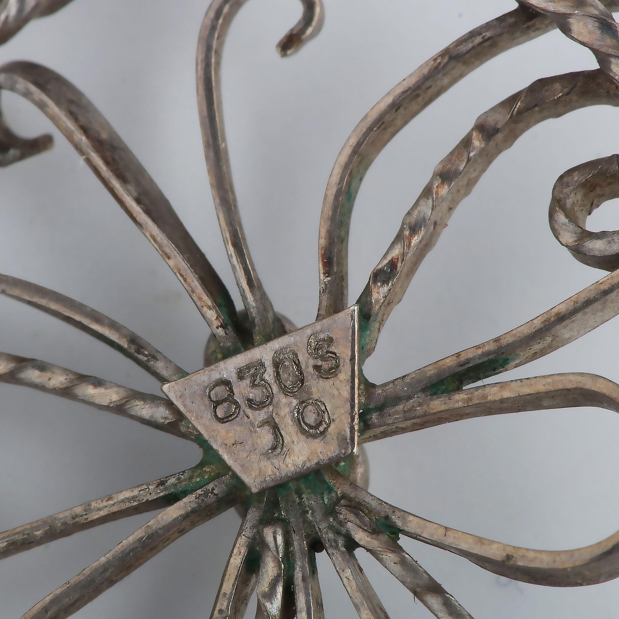 John Ofstad, sommerfuglanheng, filigran, sølv