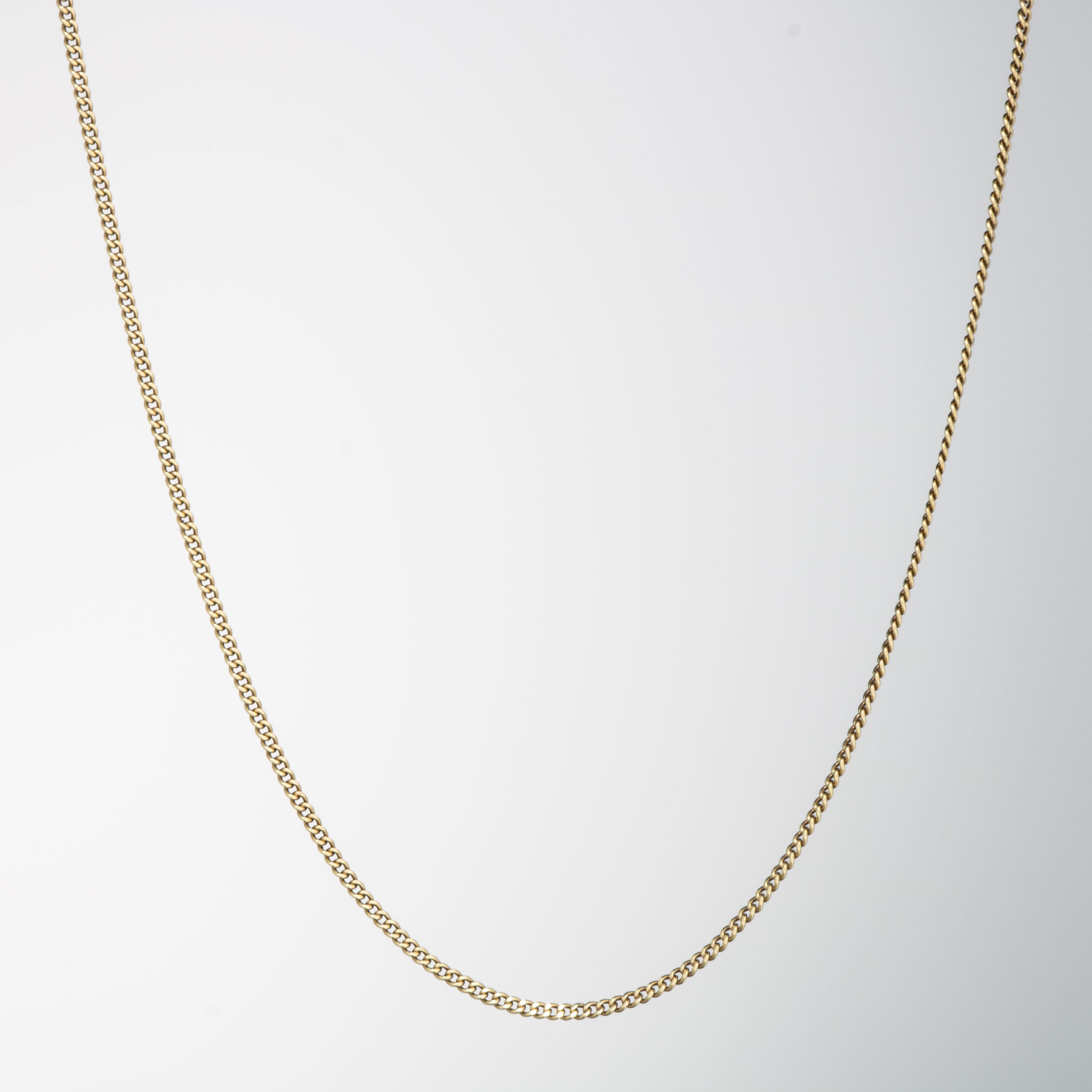 Panser kjede 38,5 cm, gult gull