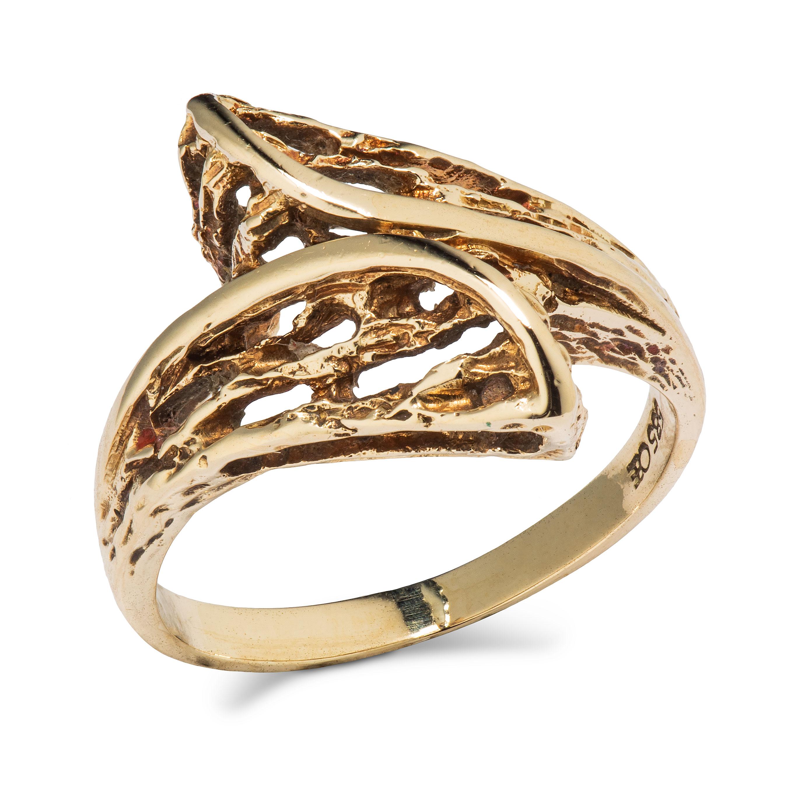 Sigurd Homstvedt ring, gult gull