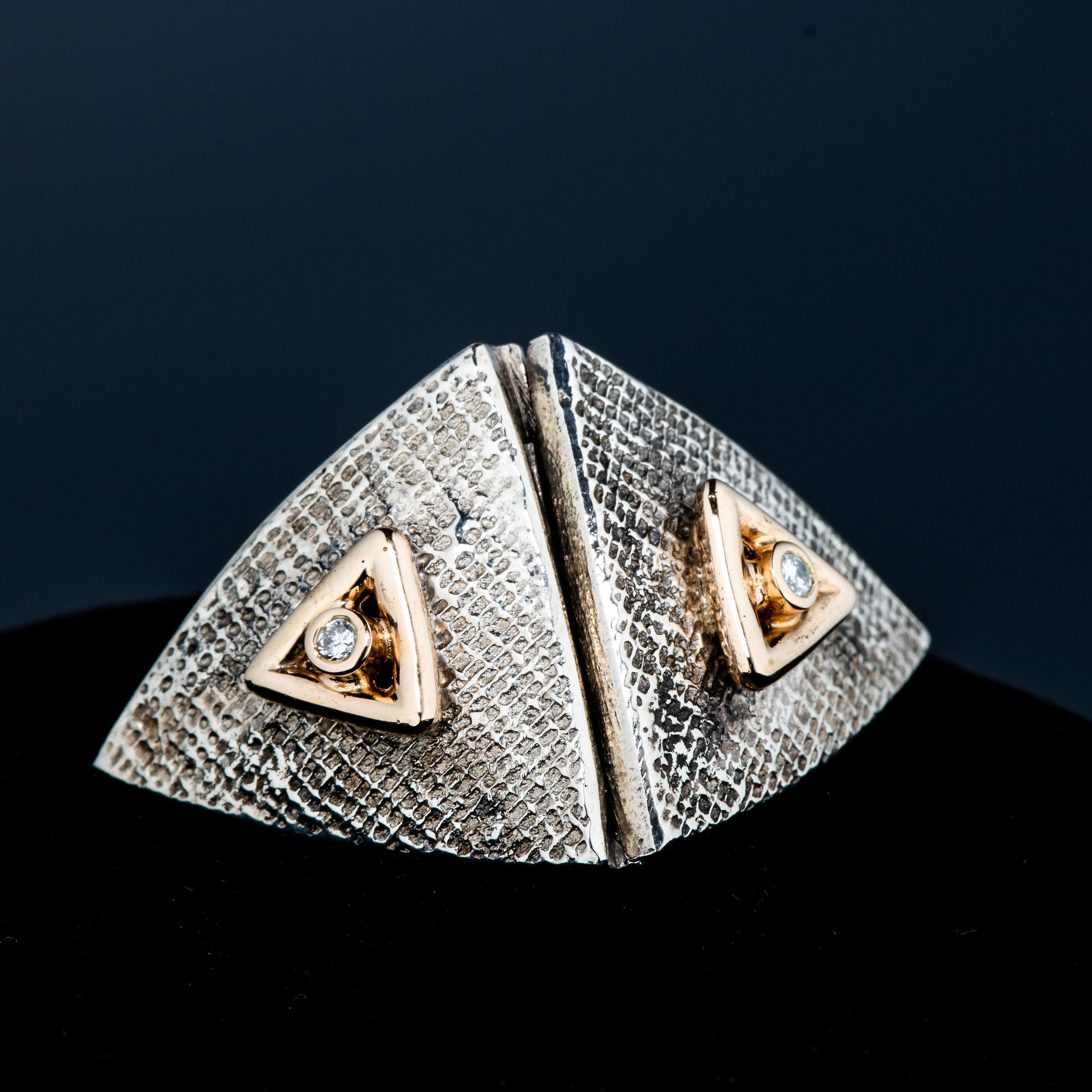 Van Bergen smykkelås og kjede, gull, sølv, diamanter (0,08 ct.)