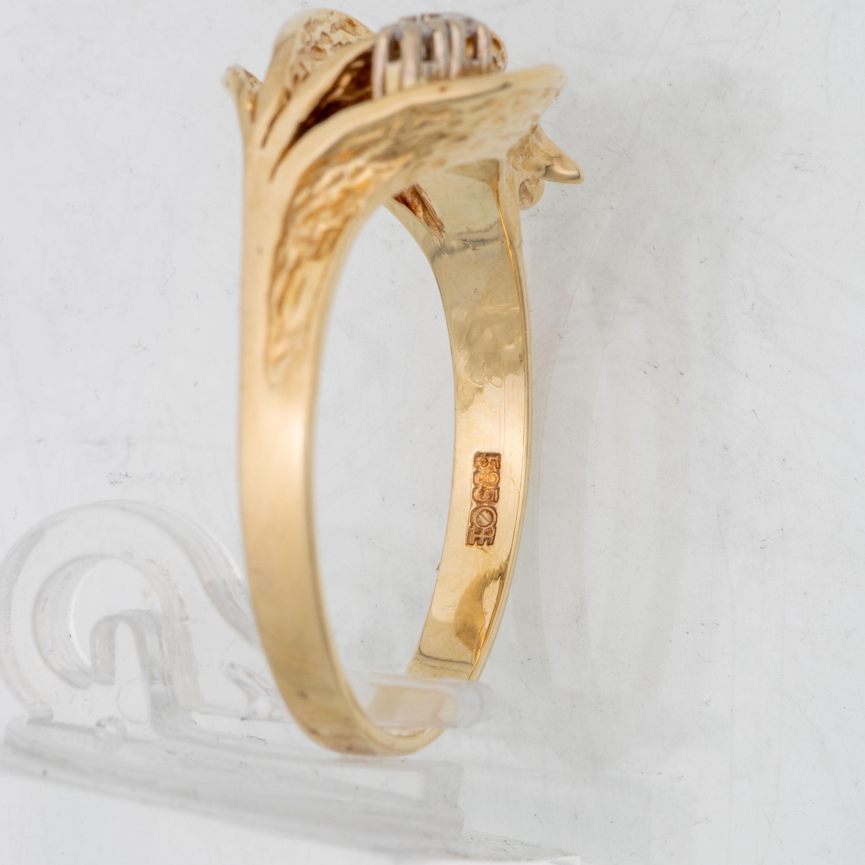 Sigurd Homstvedt ring, gult gull, diamanter