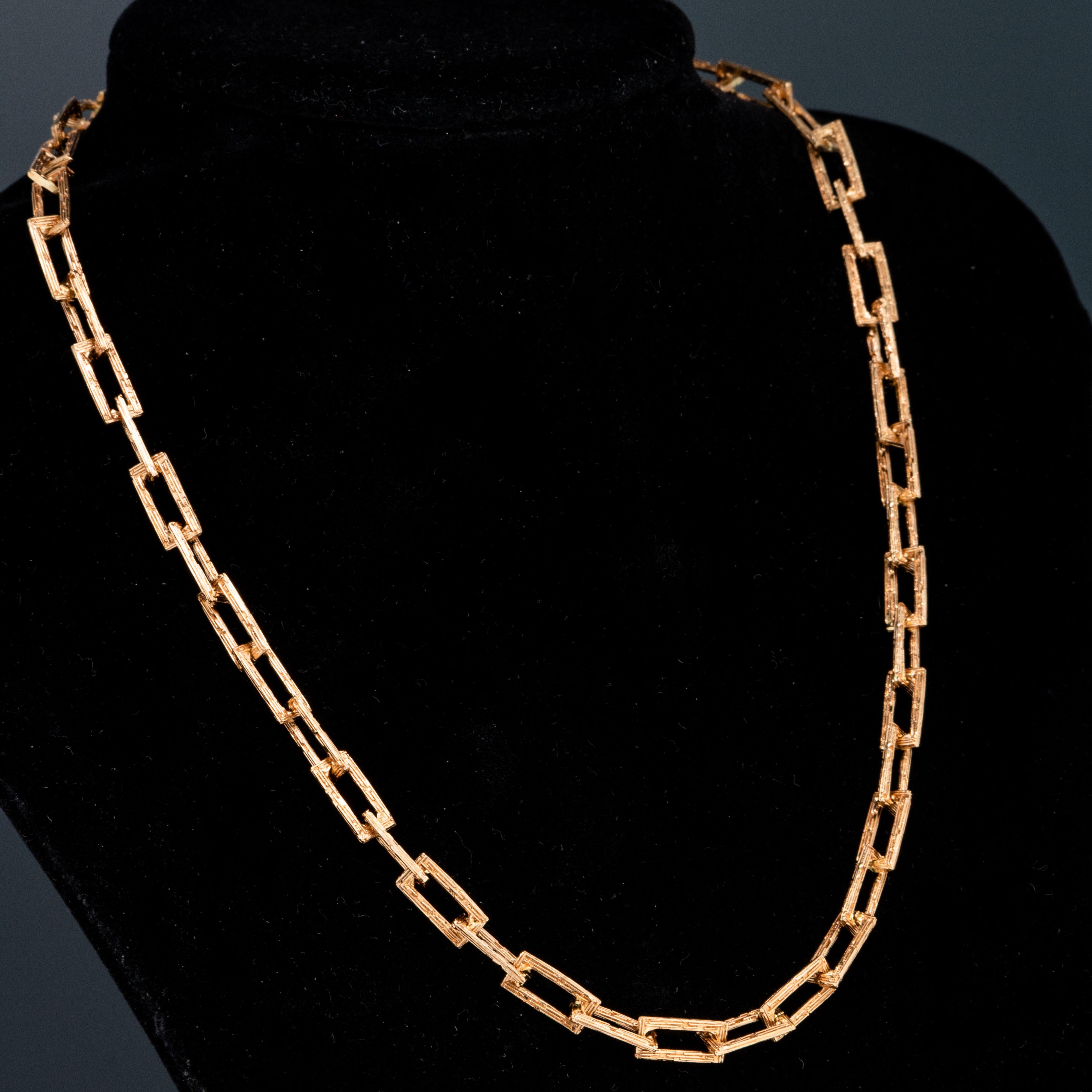 Van Bergen halskjede med smykkelås, gult gull