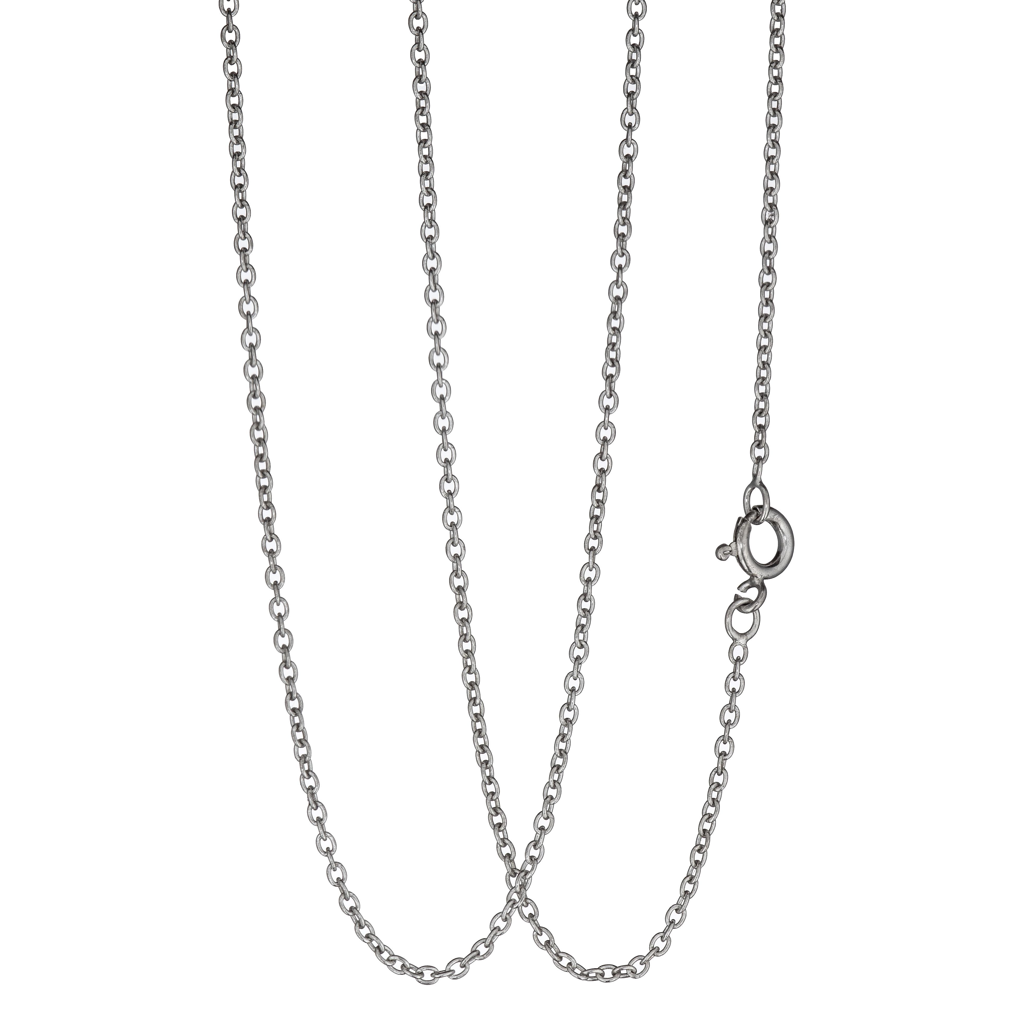 Anker halskjede 40,5 cm, sølv