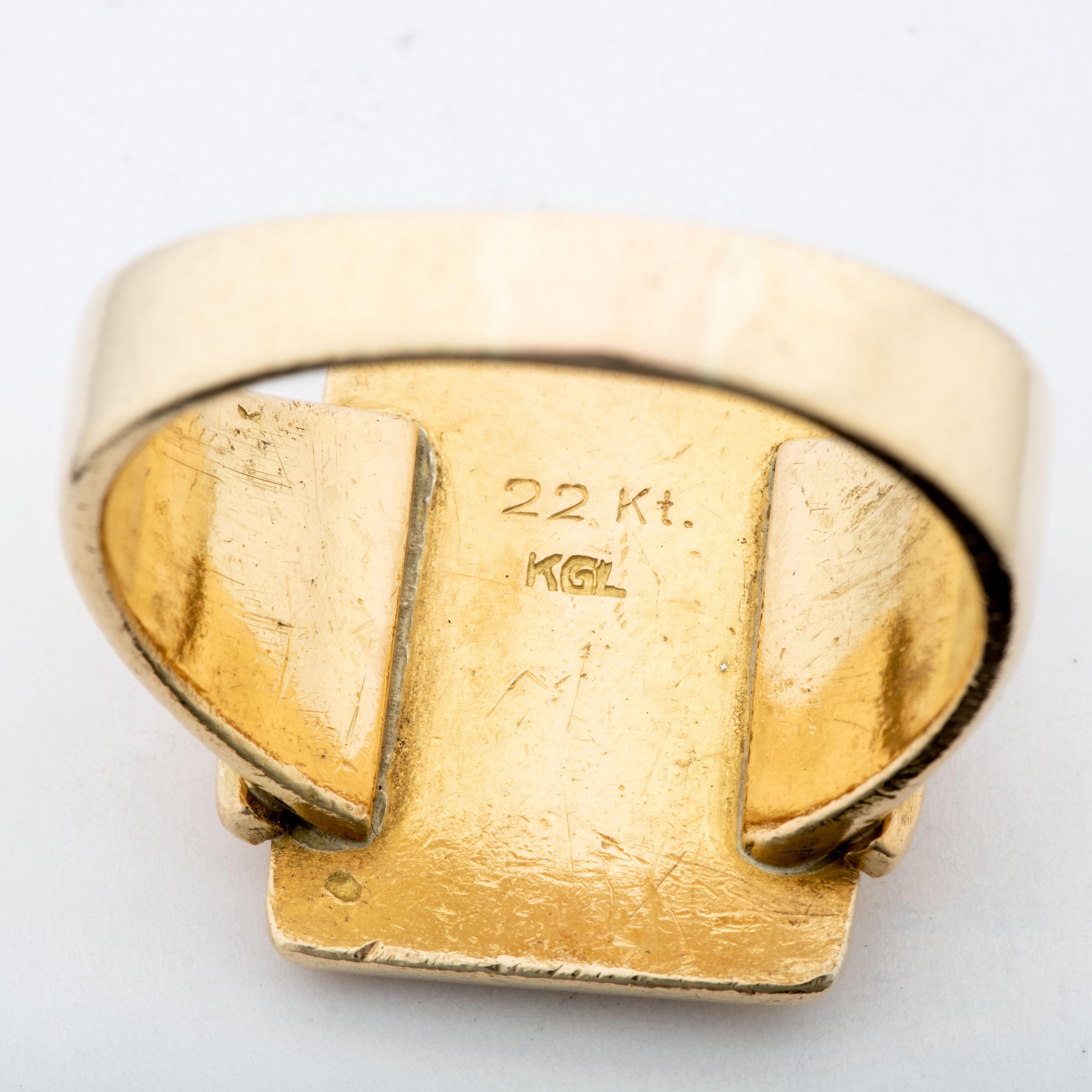 Kaj Lendahl ring, gult gull