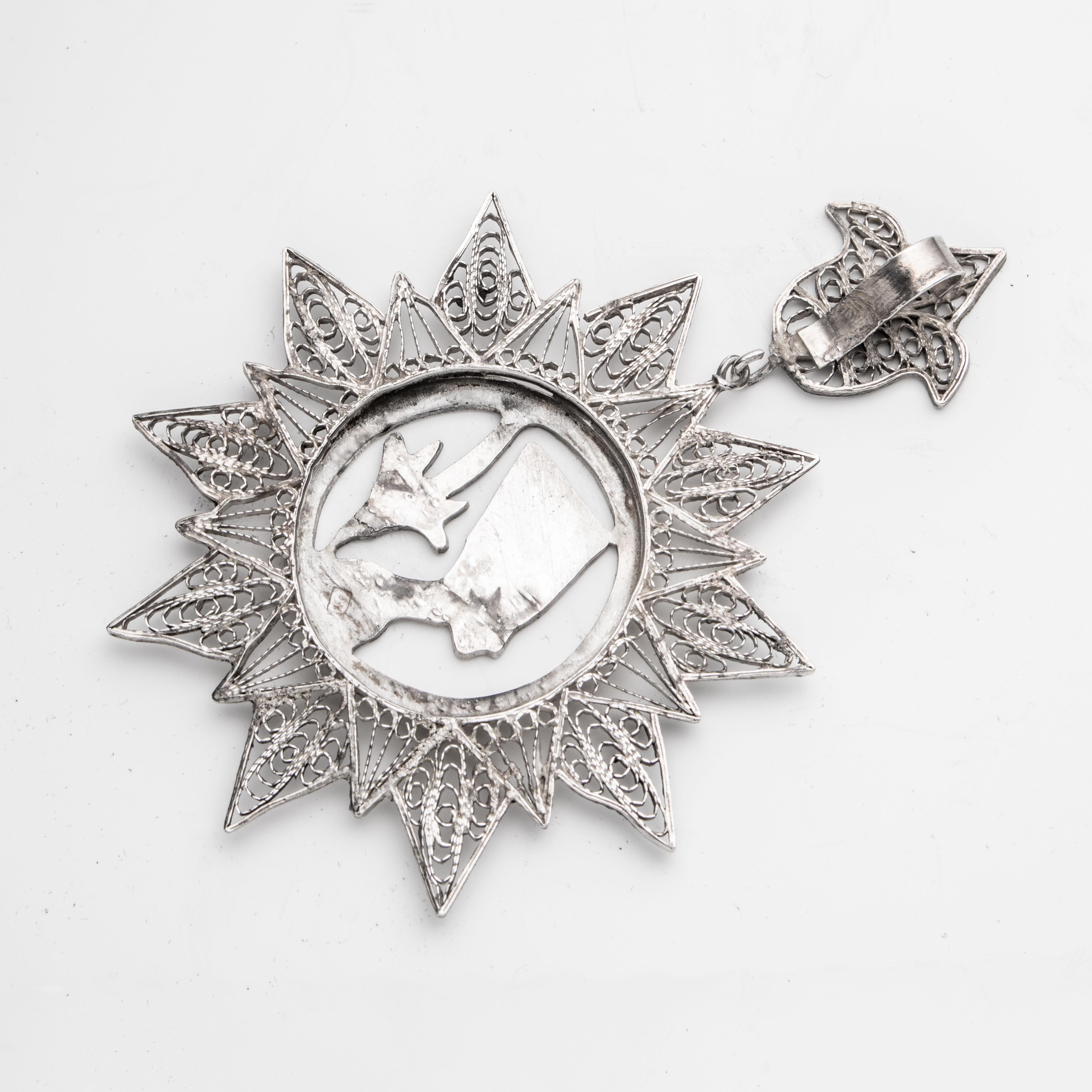 Egyptisk anheng, sølv