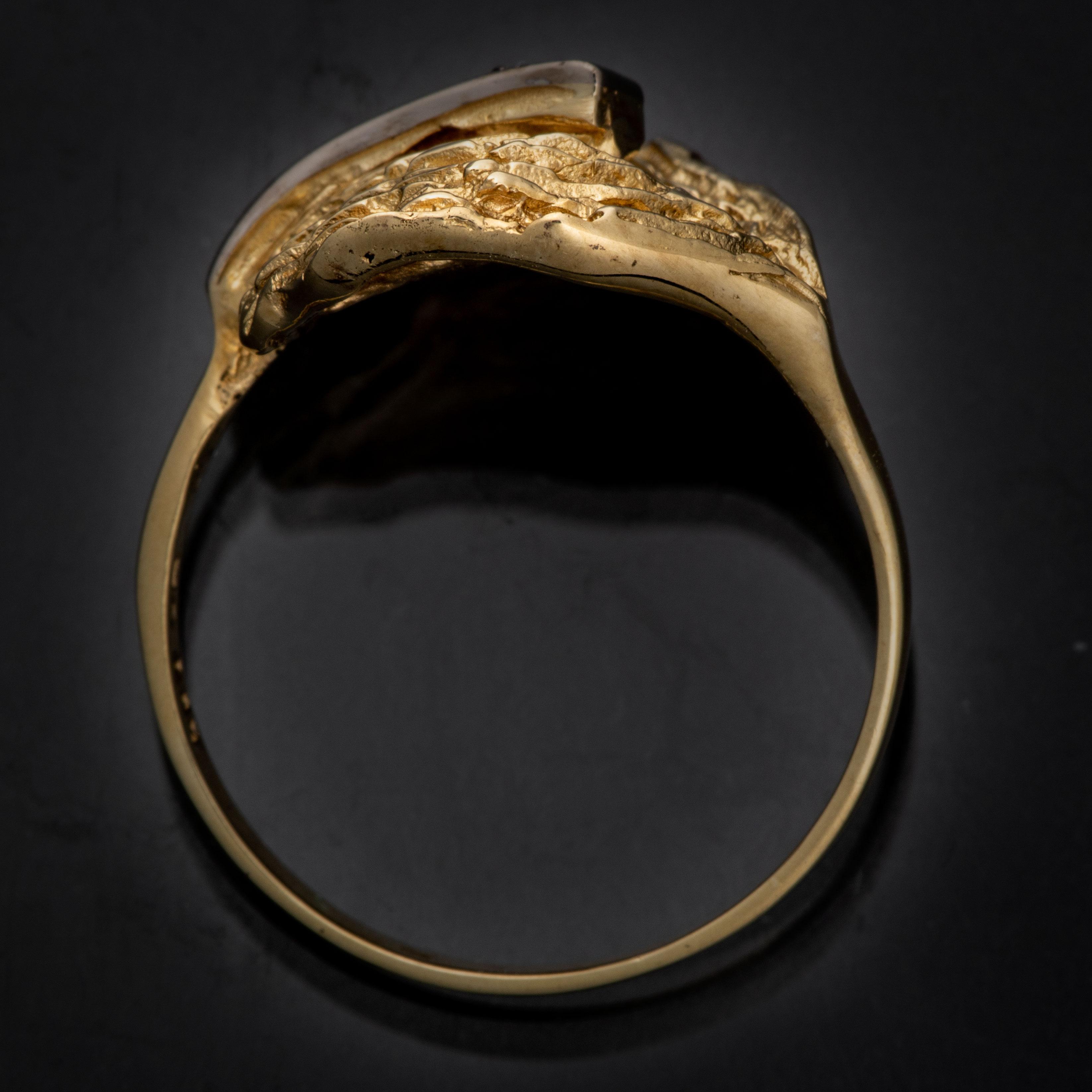 Einar Christophersen ring, gult gull, diamanter