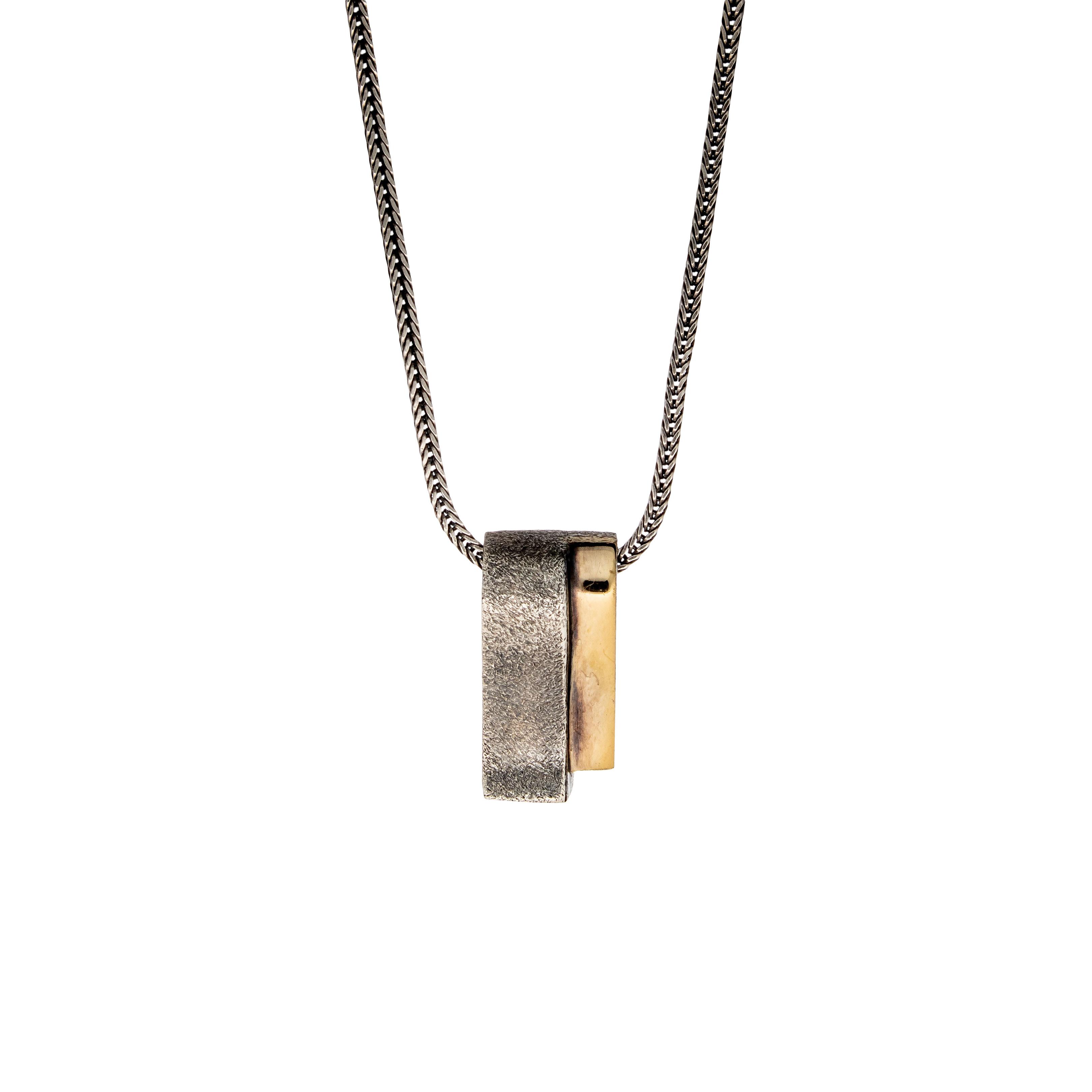Pan halssmykke, oksidert sterling sølv