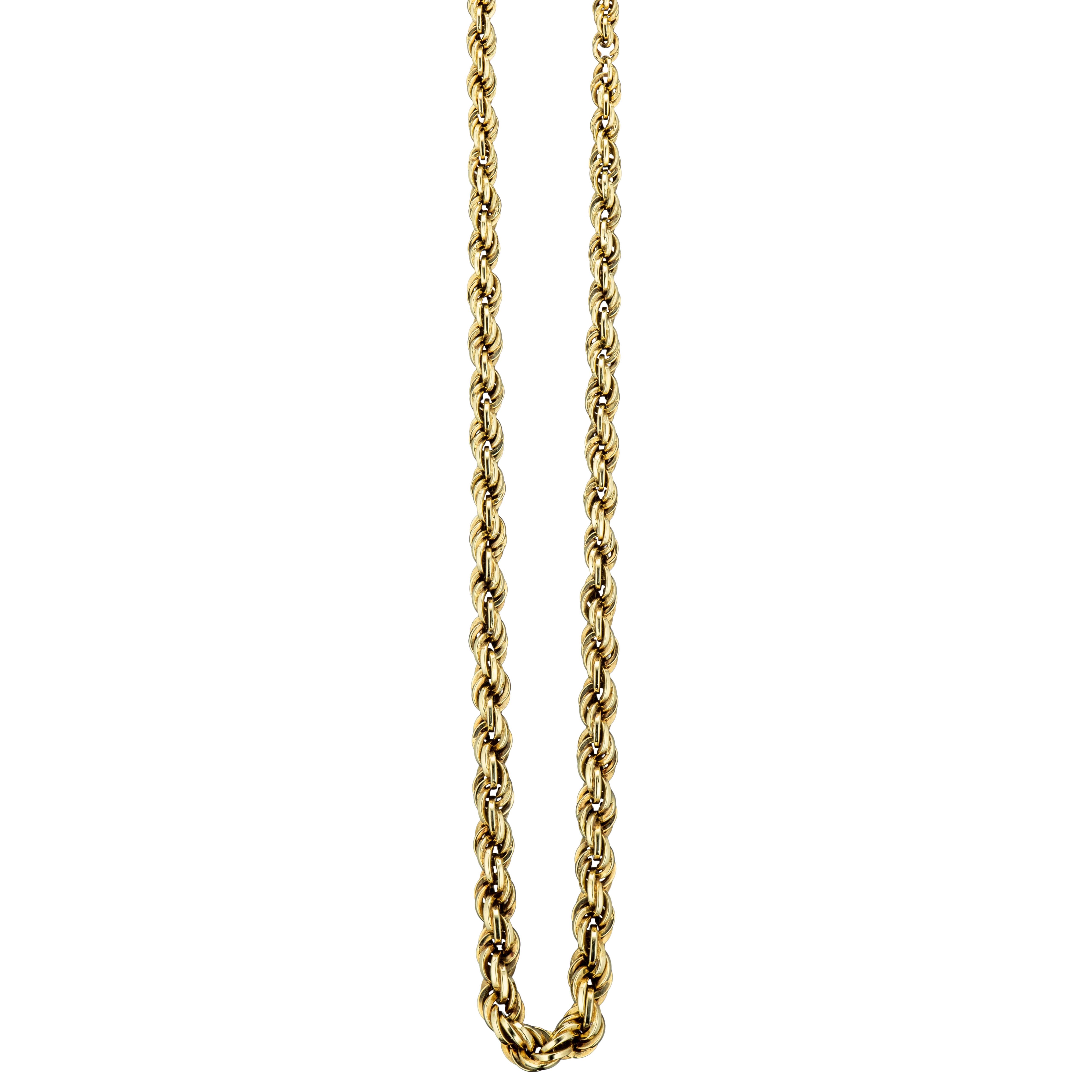 Ivar Holth cordel halskjede, gult gull