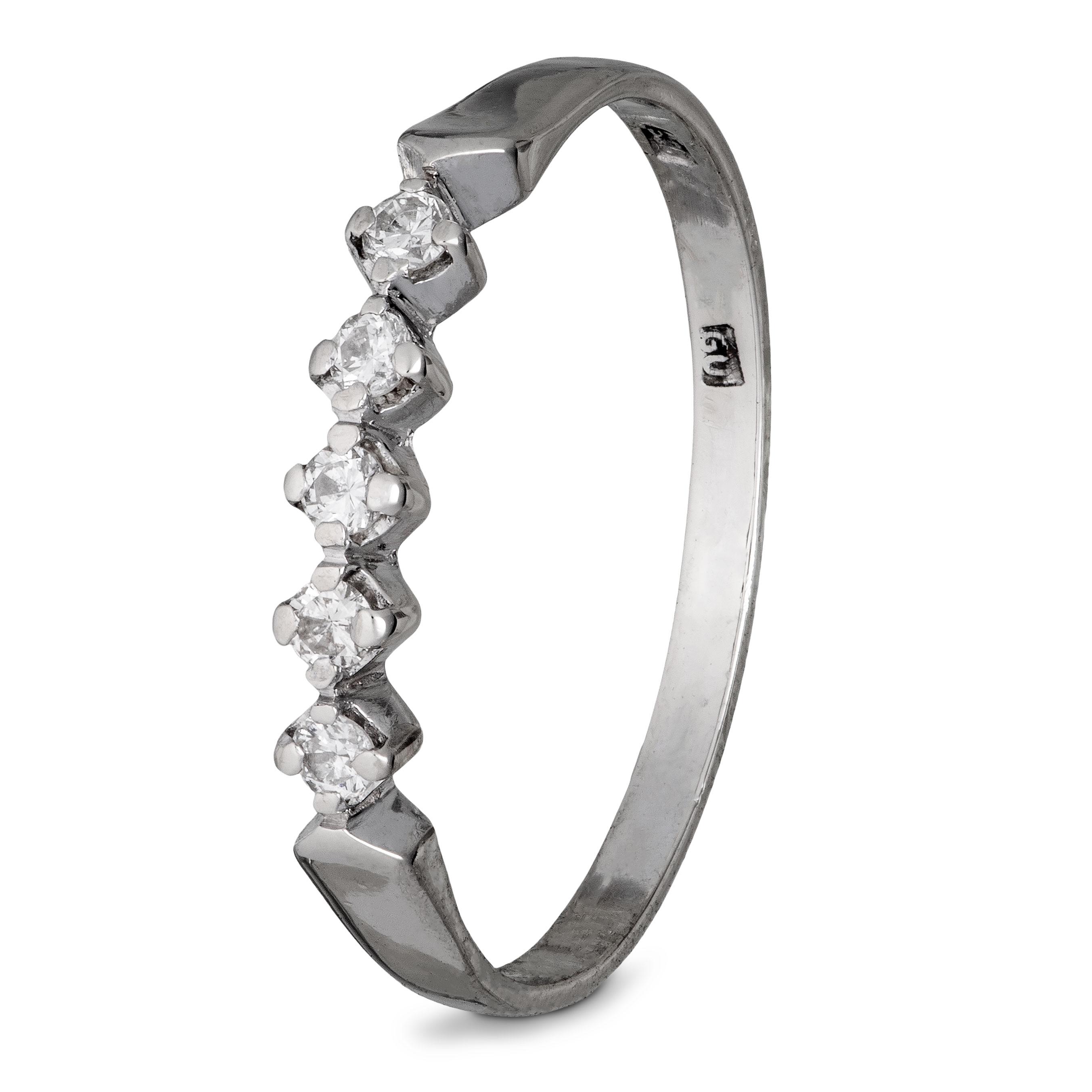 Gjermund Underhaug (1911-47) ring, hvitt gull, diamanter