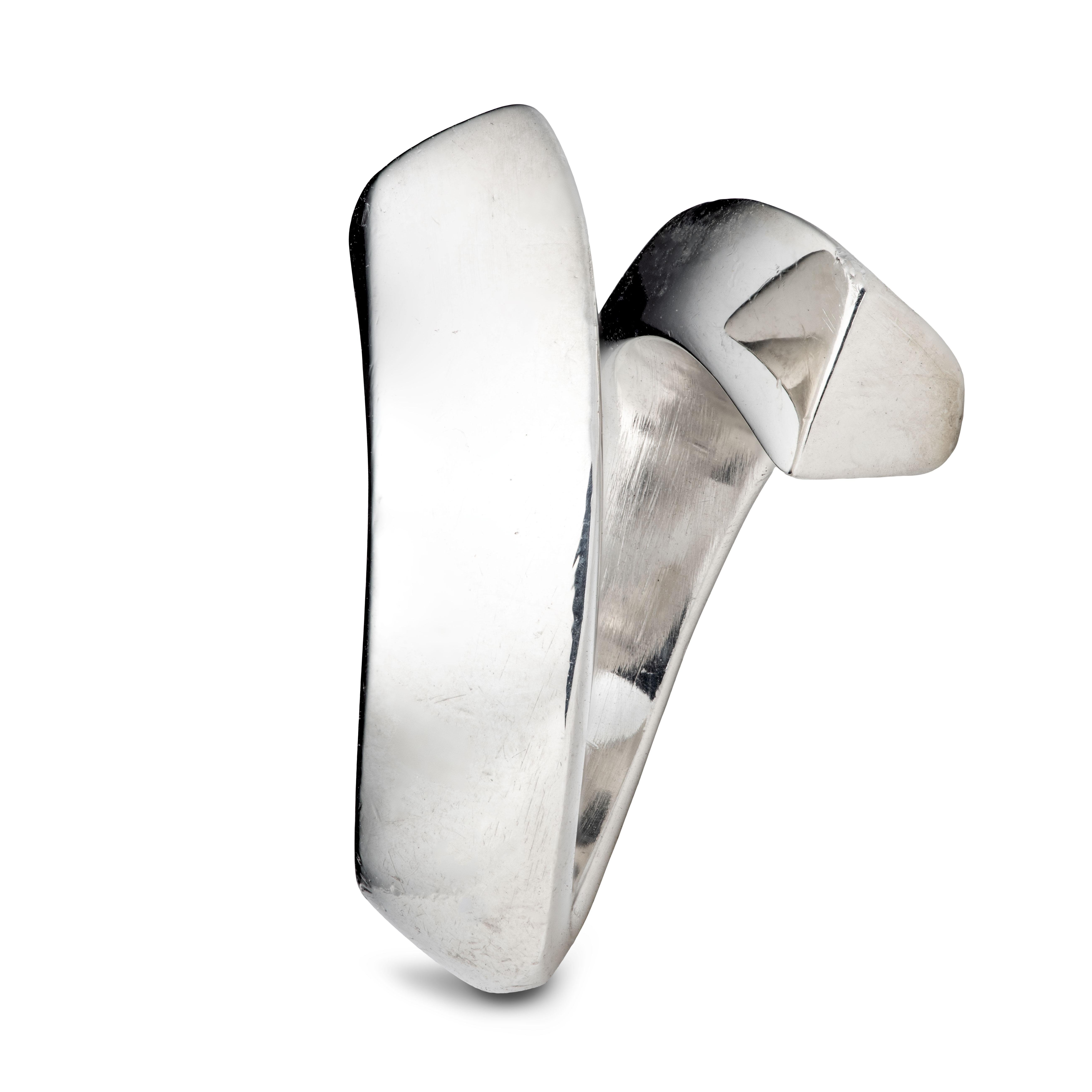 Modernistisk ring, sterling sølv
