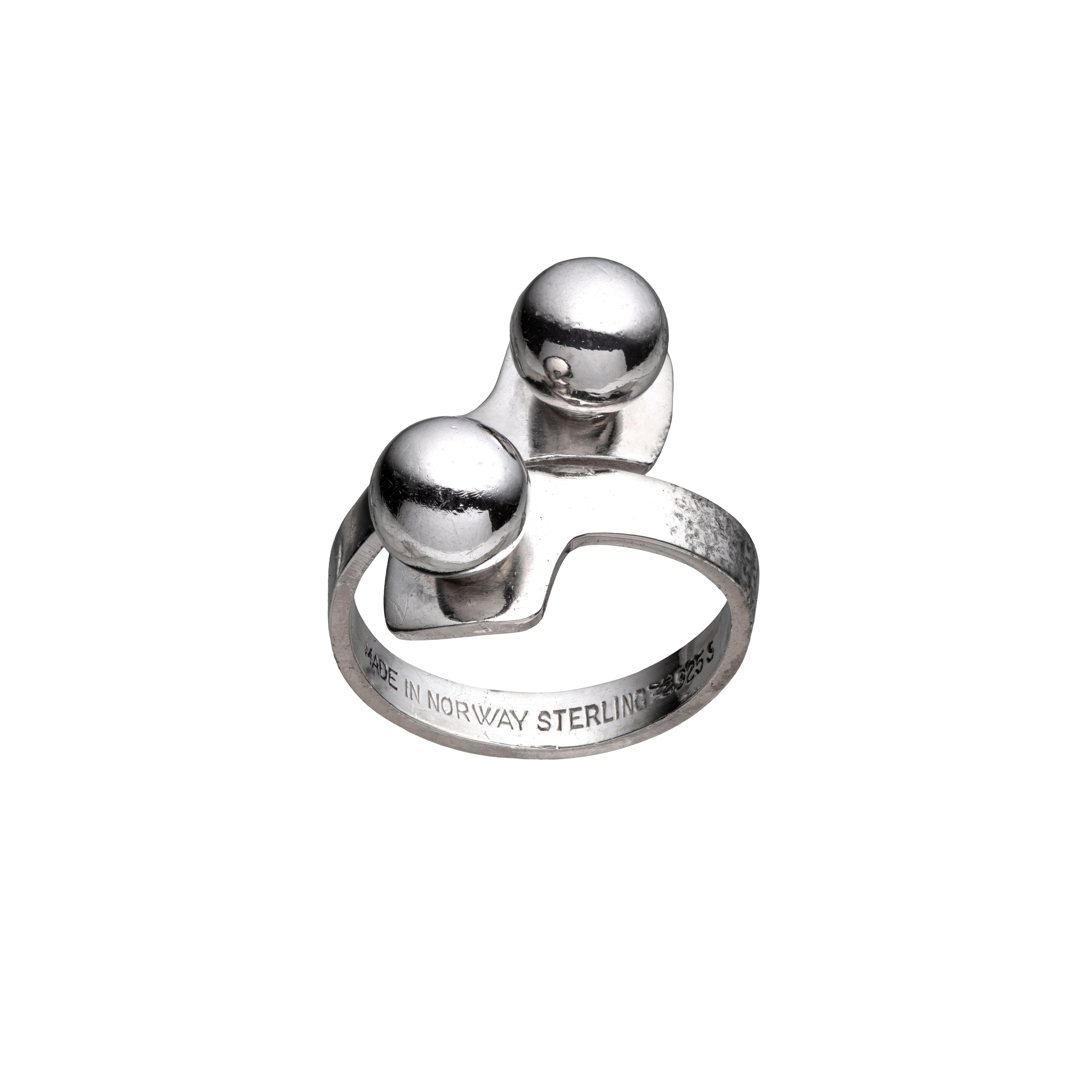 Aksel Holmsen ring, sterling sølv