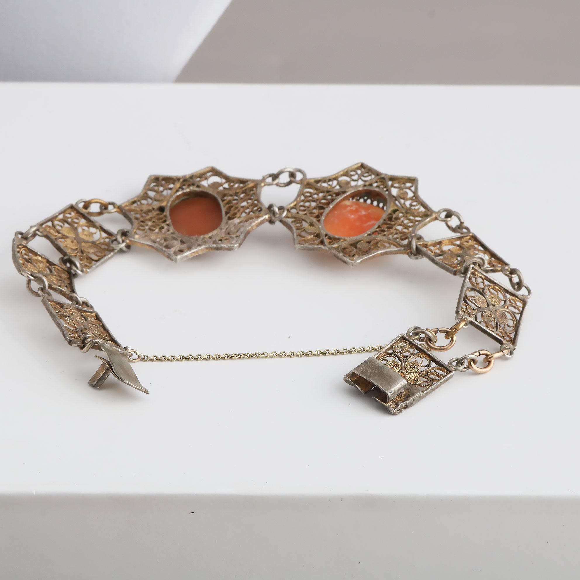 Kamé armbånd, forgyllet sølv, filigran