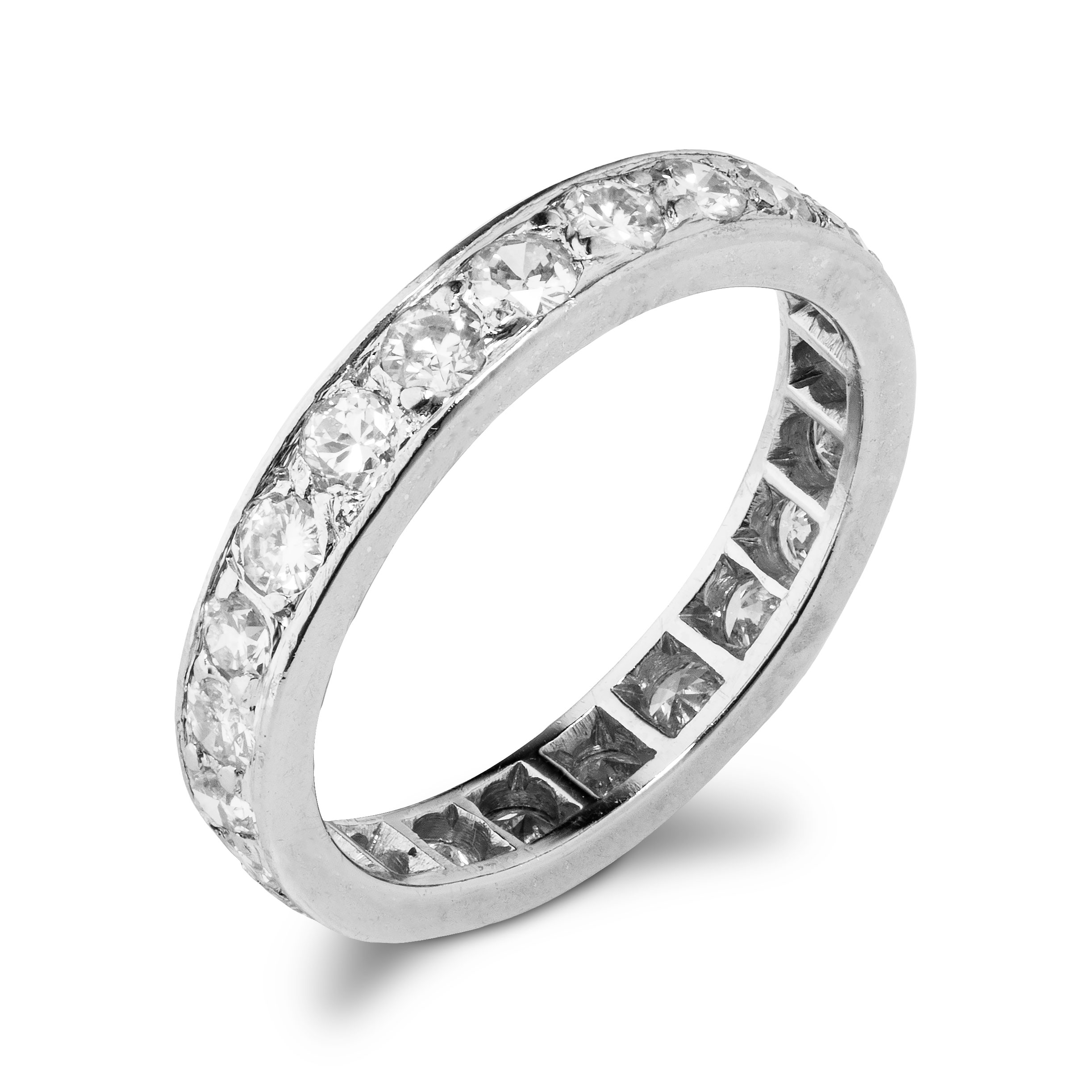 Eternity diamantring (0,69 ct.), hvitt gull