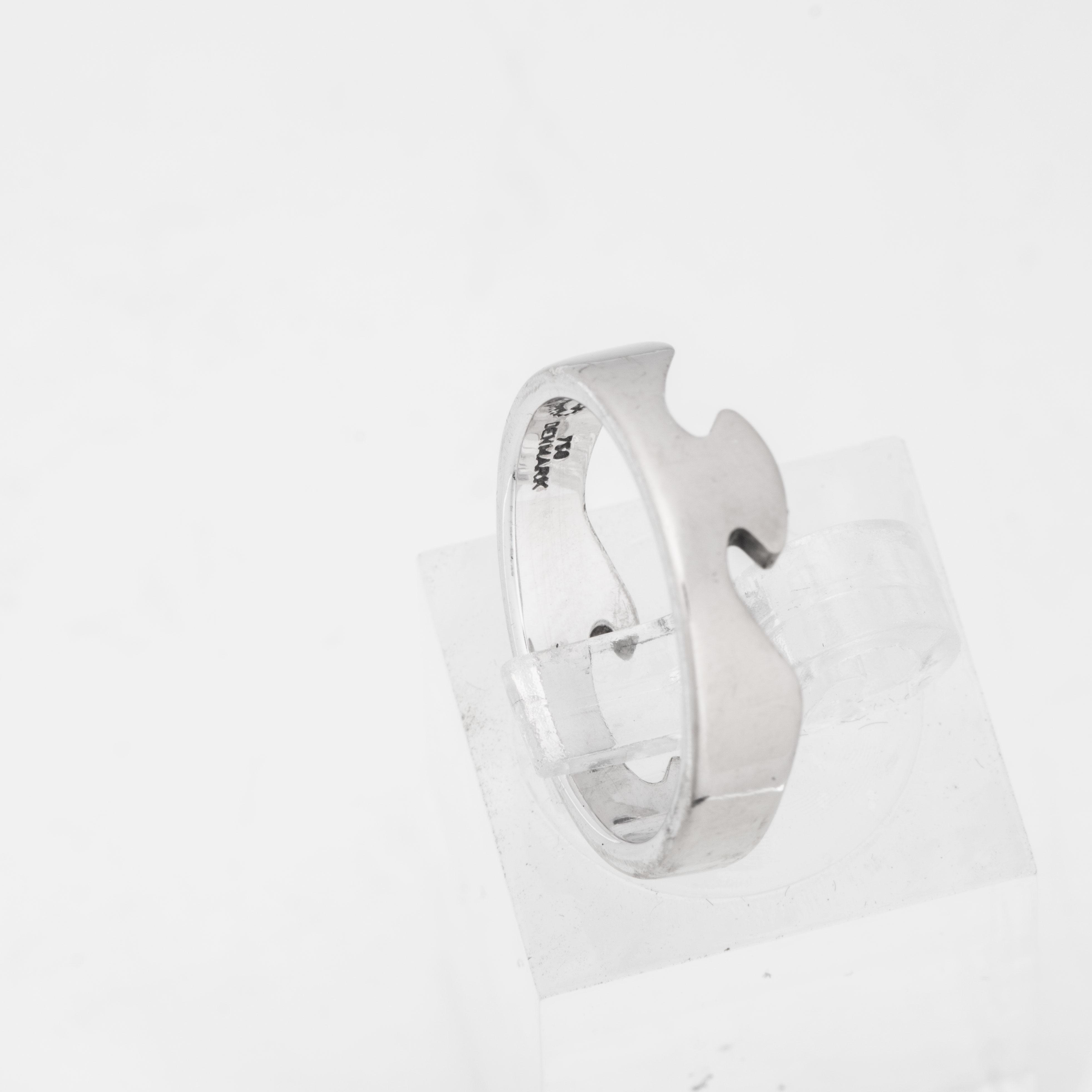 Georg Jensen Fusion ring, hvitt gull, diamanter