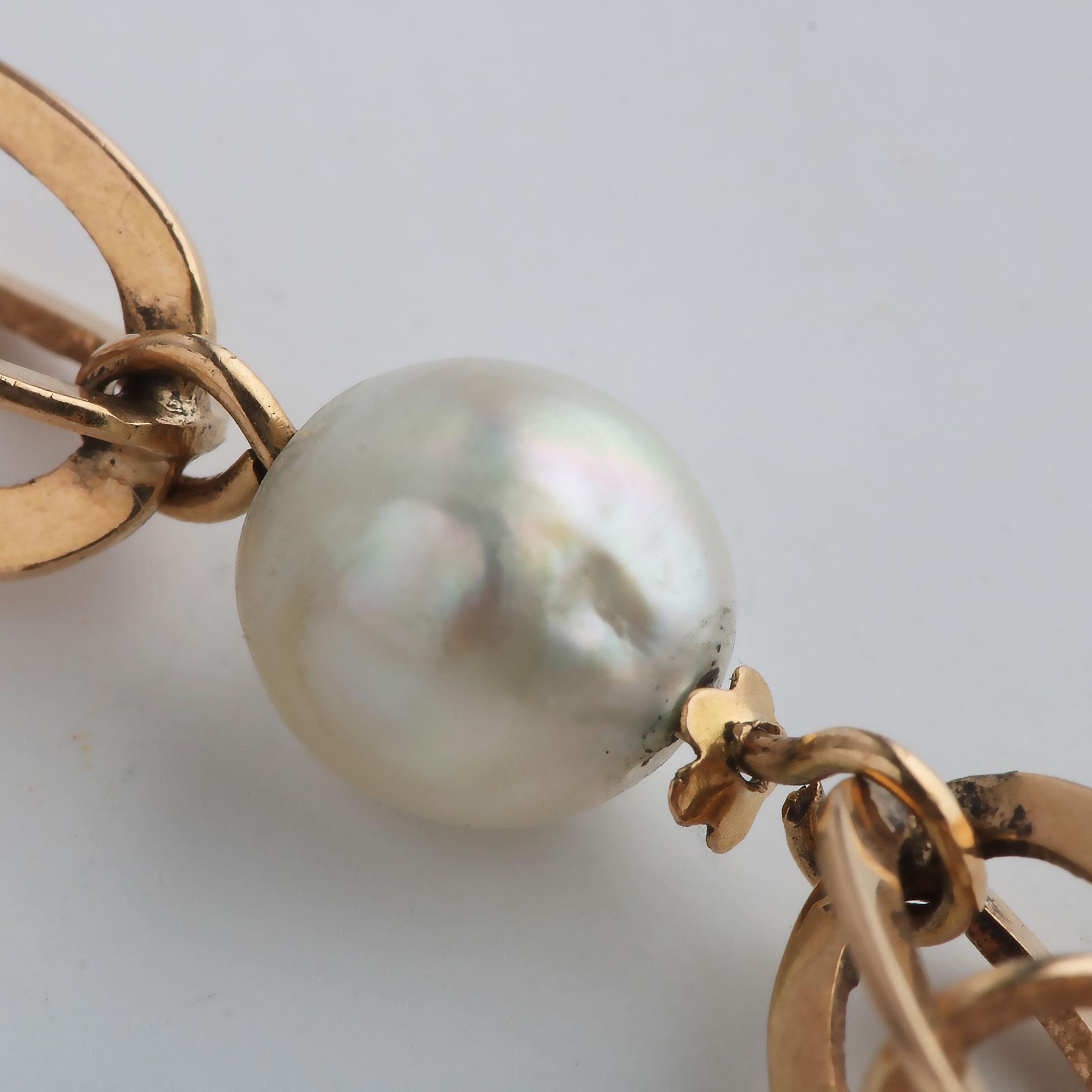 Perlearmbånd, gult gull