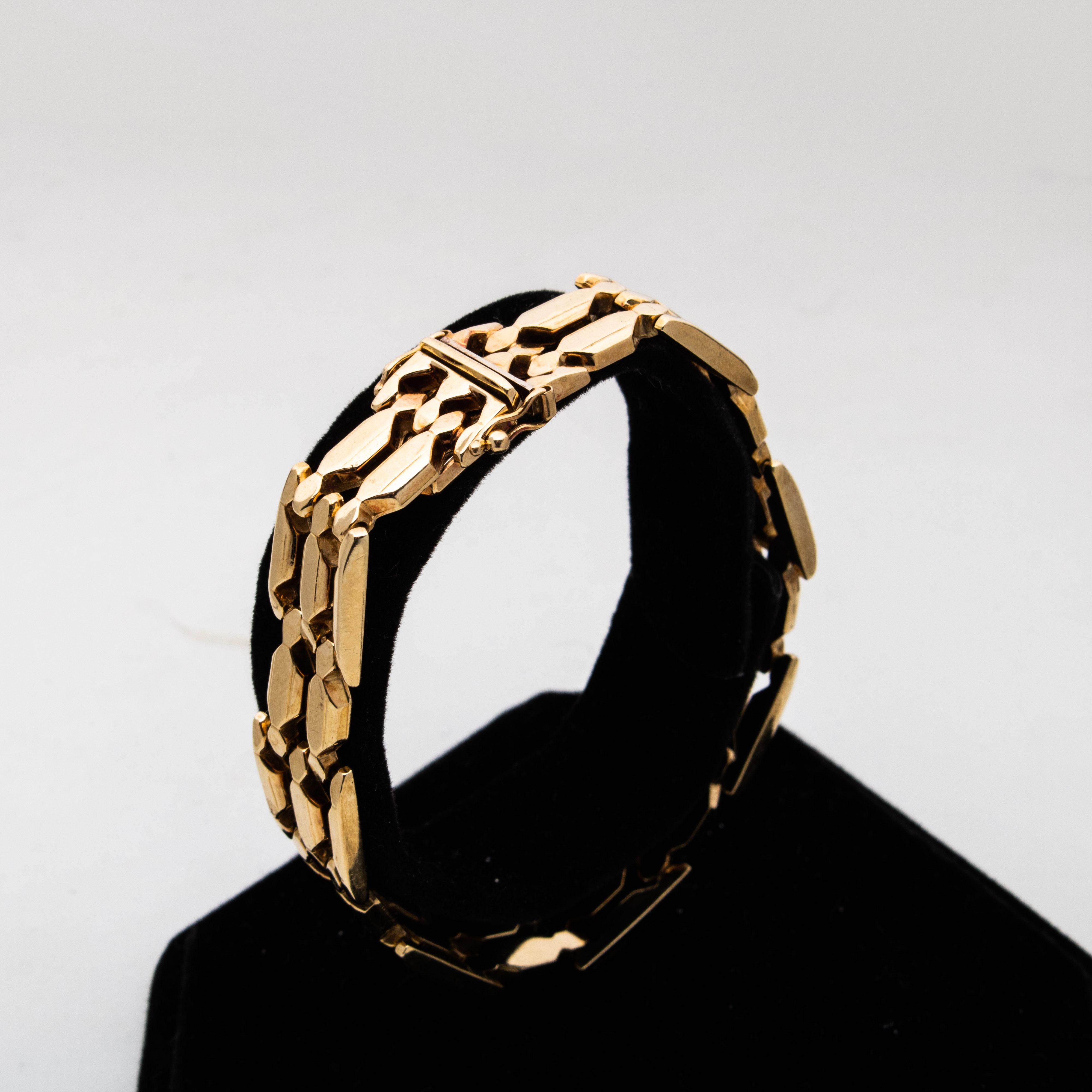 Theodor Olsen armbånd, gult gull